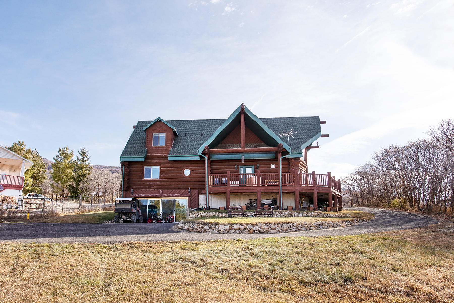 Single Family Homes for Sale at Clean Custom Log Home 24625 N 11875 E Fairview, Utah 84629 United States
