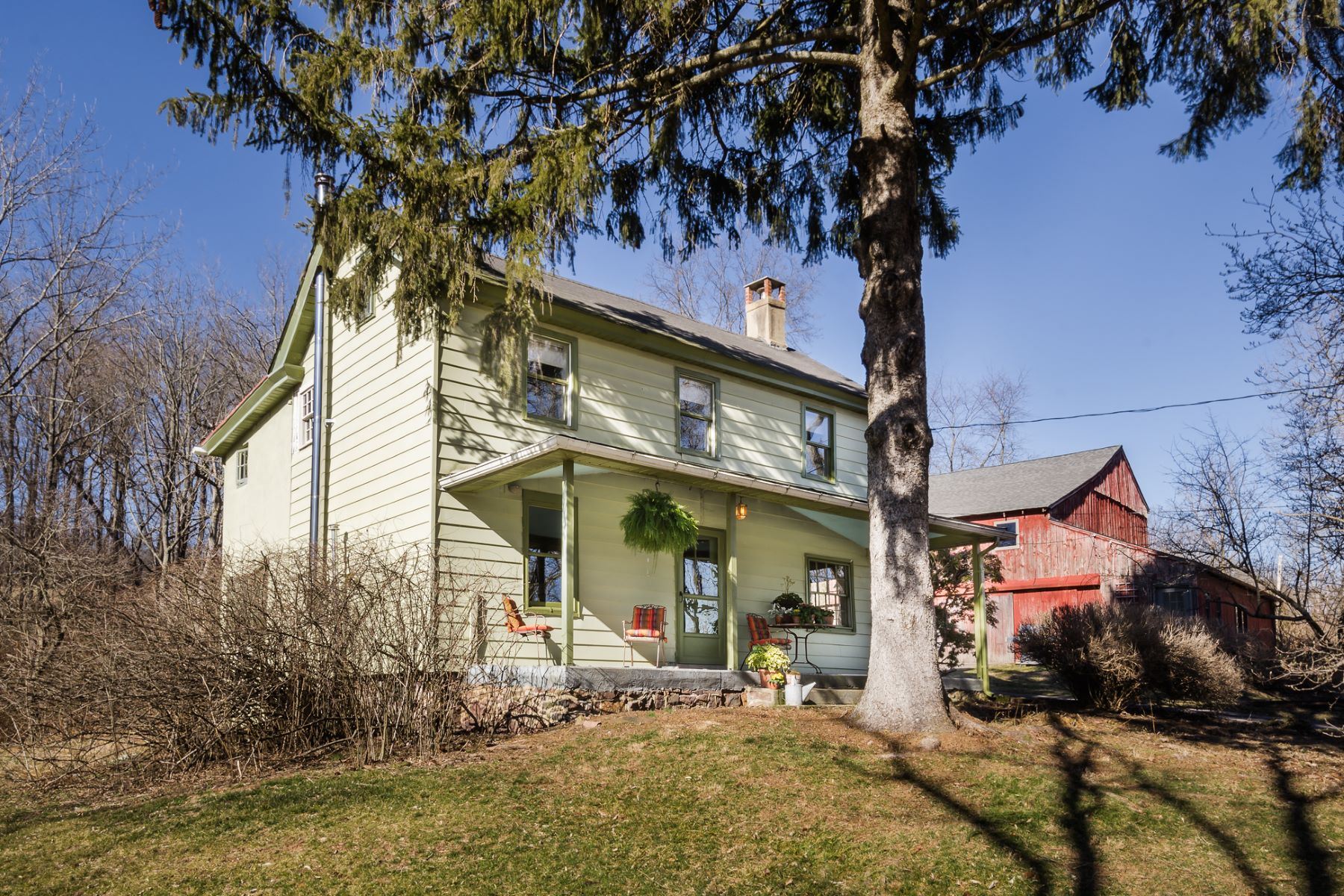Single Family Home for Sale at Presiding Above the Paunacussing Creek - Solebury Township 6015 Paunnacussing Creek Road Carversville, Pennsylvania 18938 United States