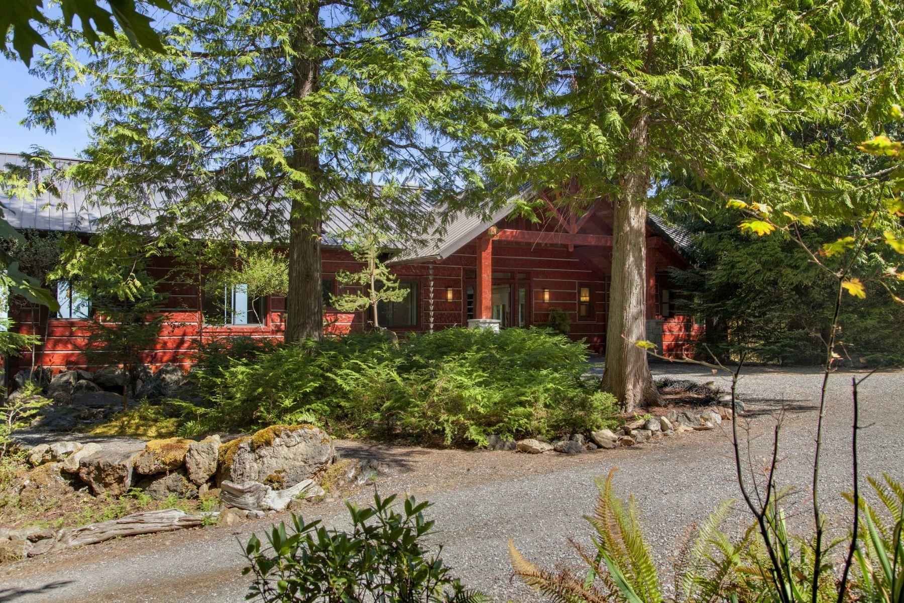 Maison unifamiliale pour l Vente à Breathtaking Spring Hill Lodge 609 Spring Hill Road Eastsound, Washington, 98245 États-Unis