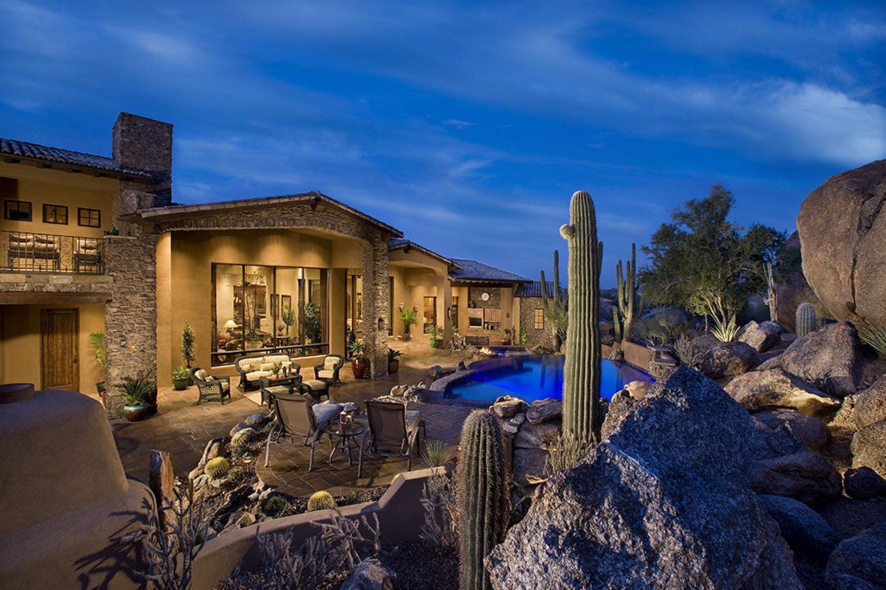 Single Family Home for Sale at Beautiful Spanish home in Troon Ridge Estates 24280 N 112th Pl Scottsdale, Arizona, 85255 United States