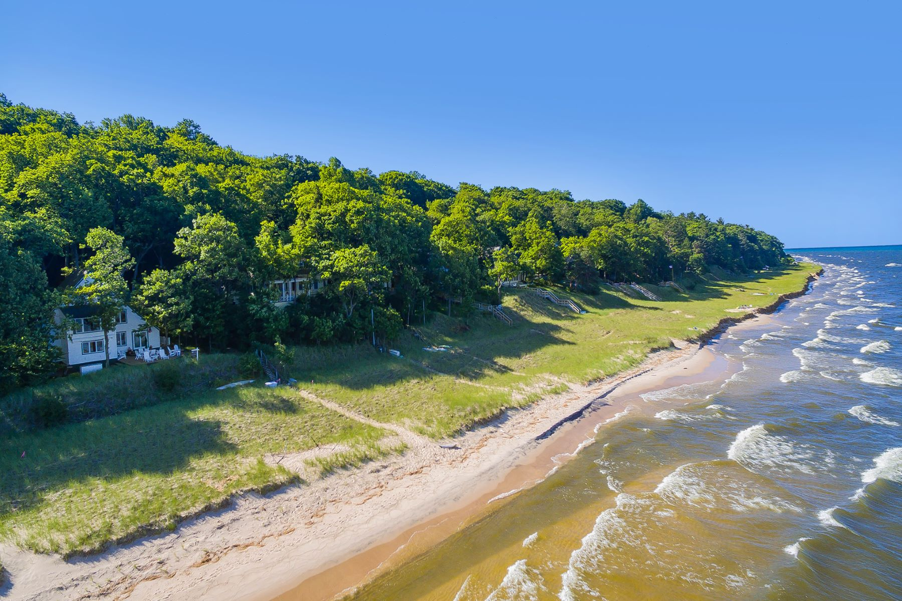 Single Family Homes for Sale at Timeless Lake Michigan Masterpiece 570 Shorewood Drive Saugatuck, Michigan 49453 United States