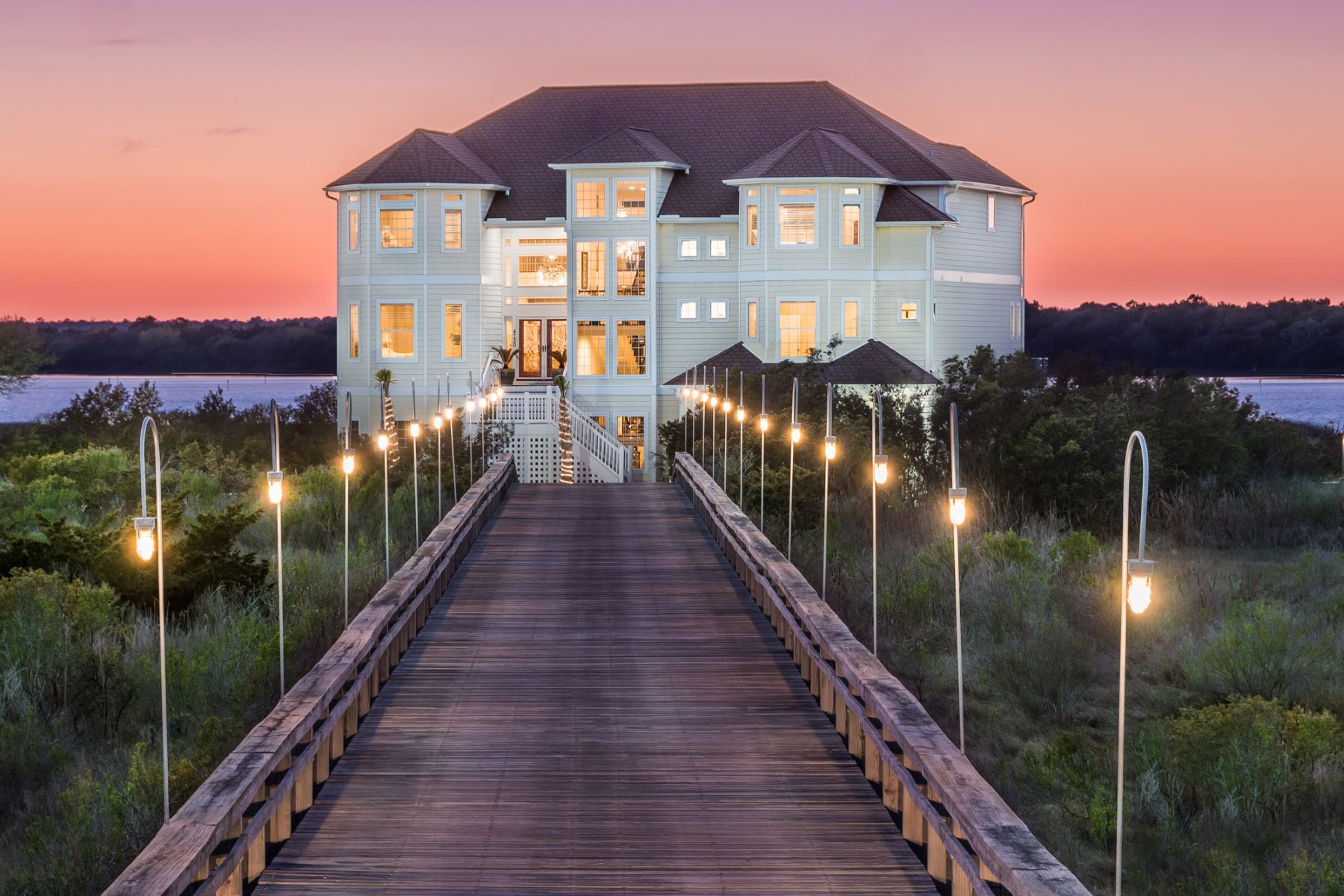 Single Family Homes for Sale at Glorious Private Island Estate 4730 23rd Ave N Topsail Beach, North Carolina 28460 United States
