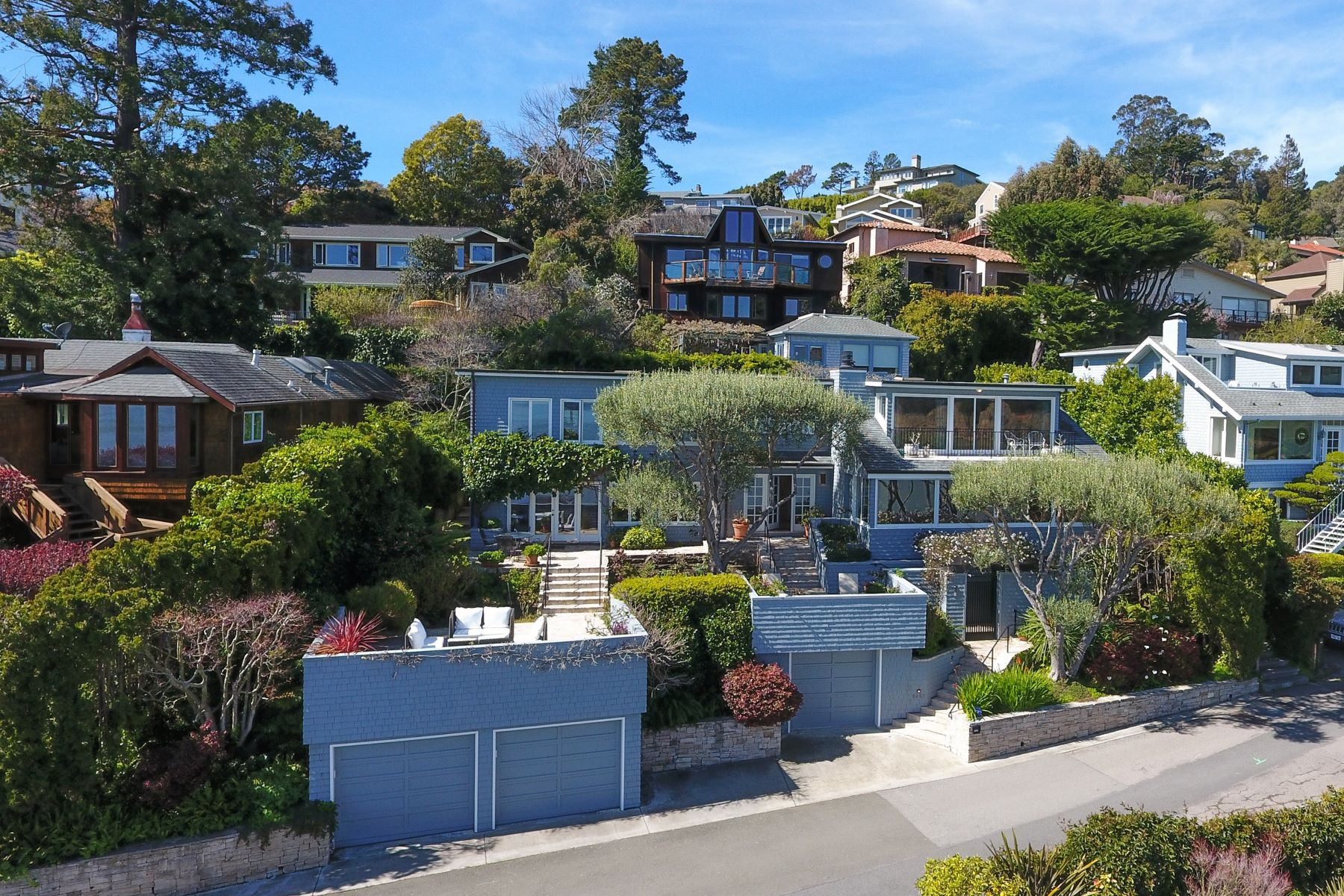 Single Family Home for Sale at Panoramic Bay Views 2457 Mar East Street Tiburon, California, 94920 United States