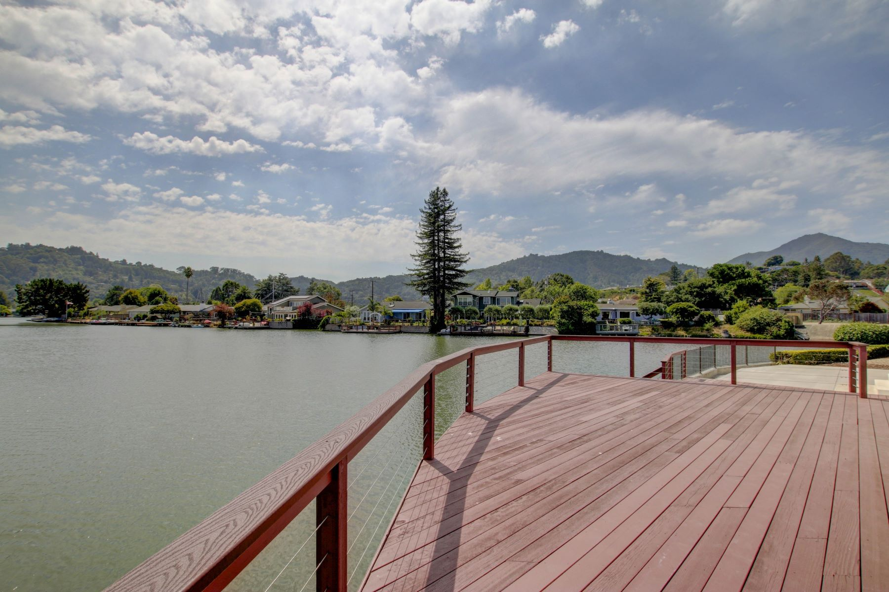 Single Family Home for Rent at On the Lagoon with a Mount Tam View 42 Chickasaw Court Corte Madera, California 94925 United States