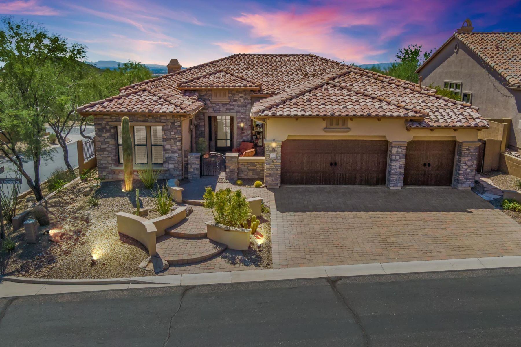 Single Family Homes por un Venta en Las Sendas 4004 N HIGHVIEW CIR Mesa, Arizona 85207 Estados Unidos