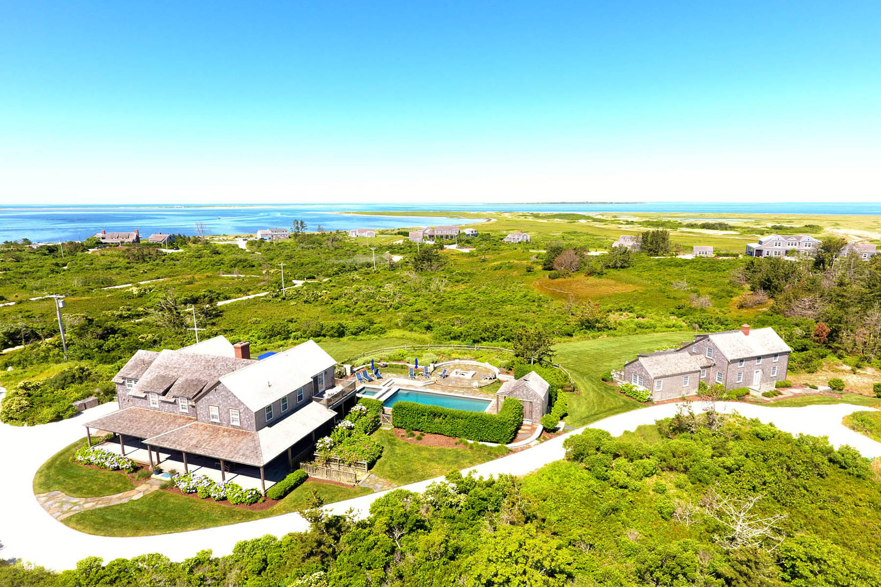 Single Family Home for Active at Sweeping Views on the North Shore 179 Eel Point Road Nantucket, Massachusetts 02554 United States