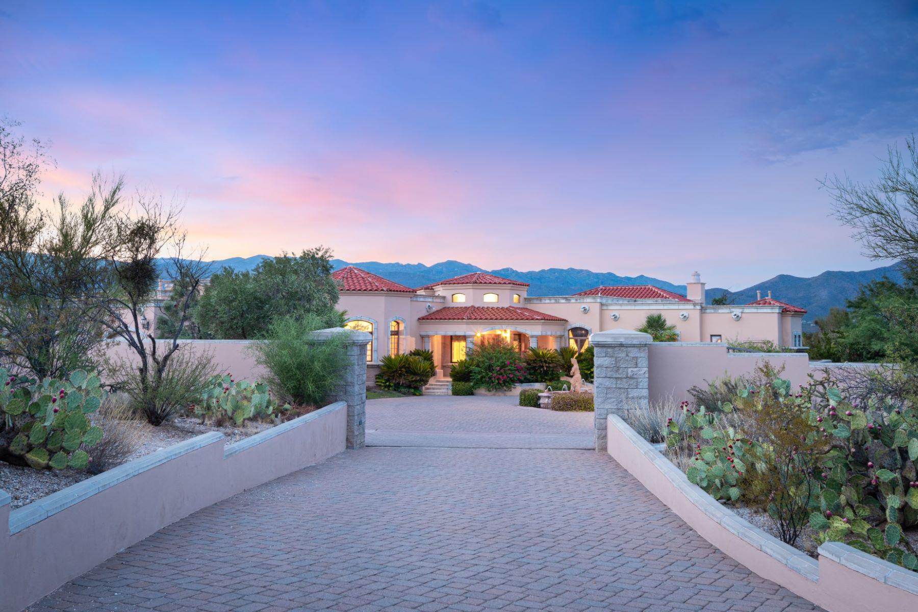 Single Family Homes for Sale at Beautiful Mediterranean Estate on a 3.3 Acre Lot 11601 E Lusitano Place Tucson, Arizona 85748 United States