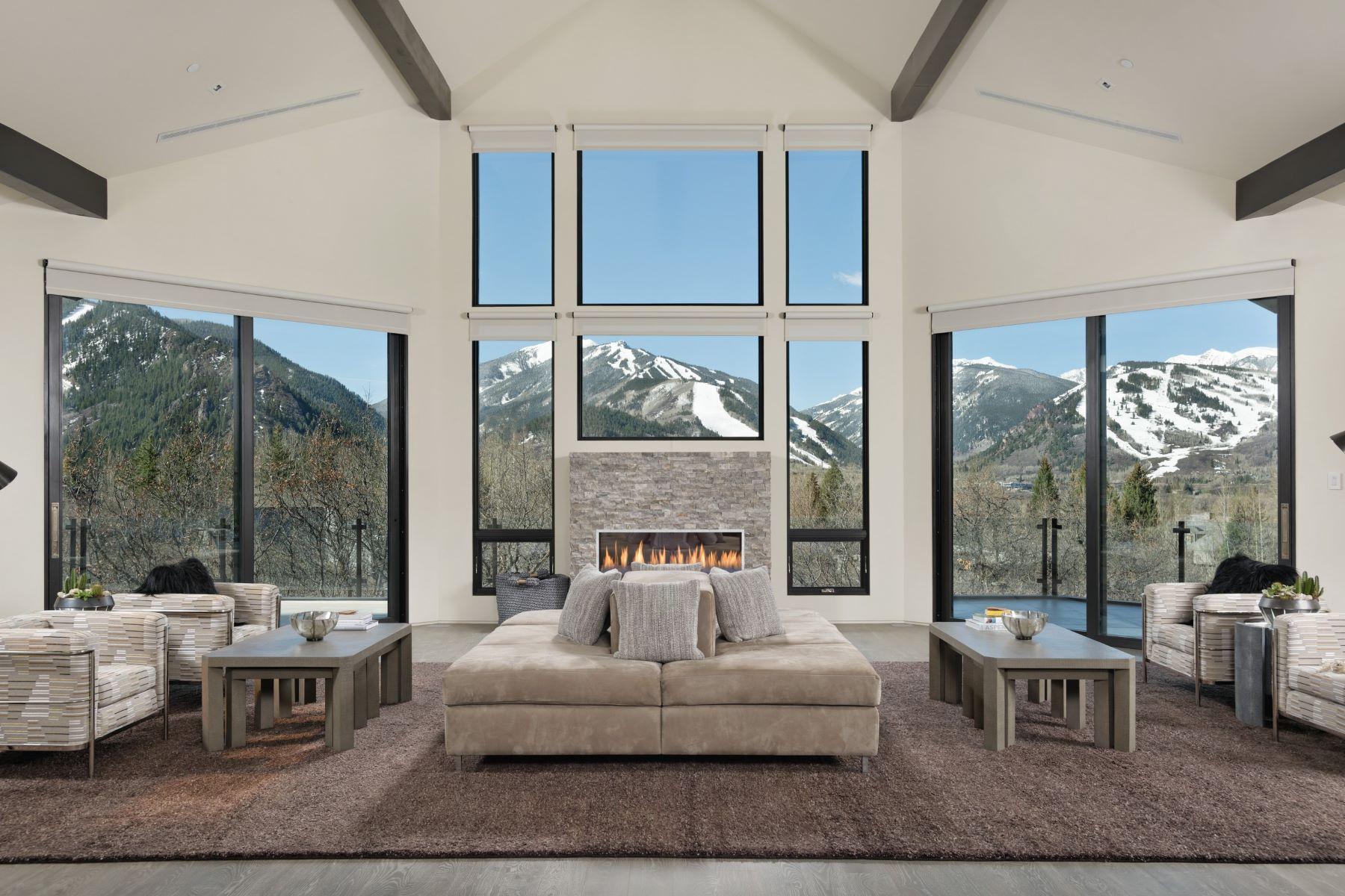 Single Family Homes por un Venta en Red Mountain Splendor 346 Draw Drive Aspen, Colorado 81611 Estados Unidos