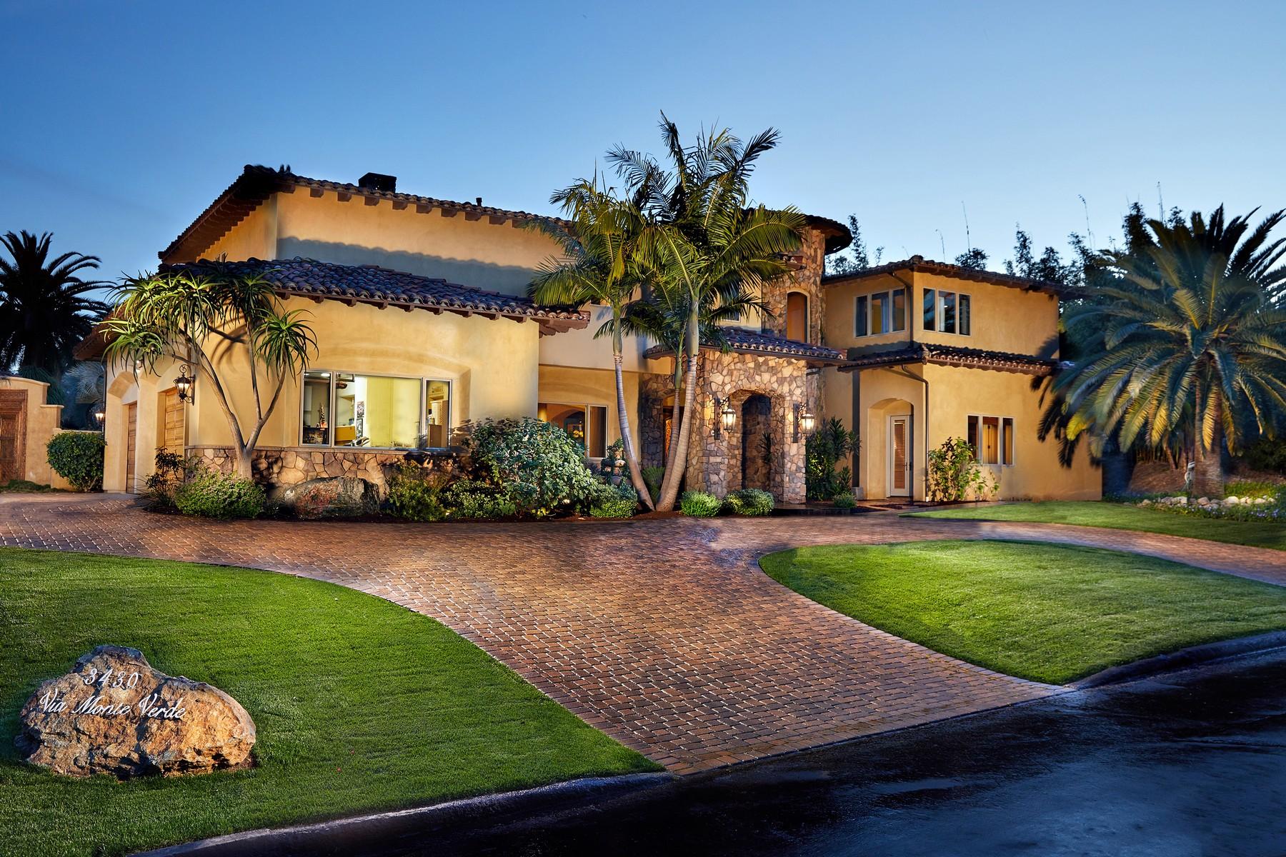 Частный односемейный дом для того Продажа на 3430 Via Monteverde Encinitas, Калифорния 92024 Соединенные Штаты