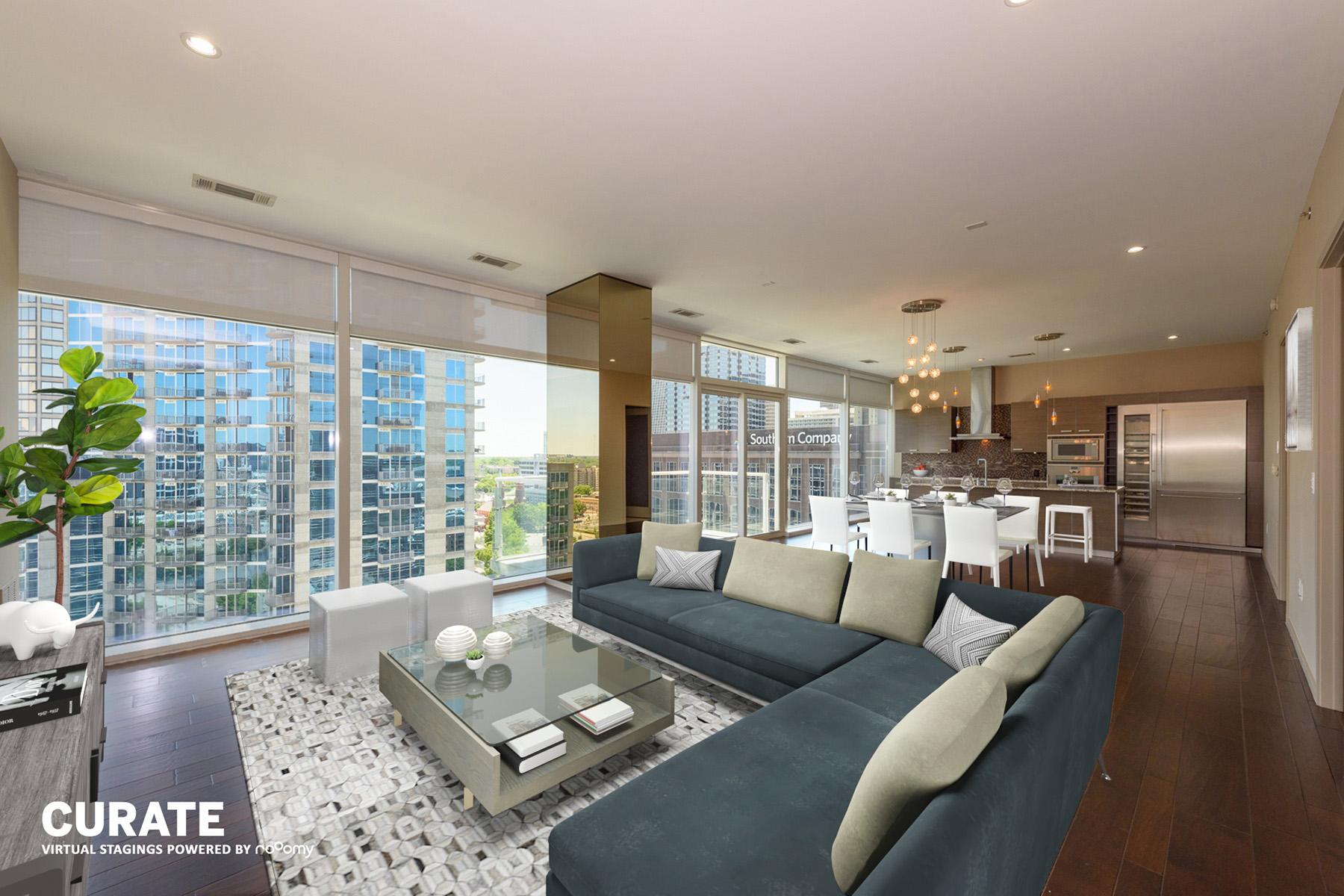 Appartement voor Verkoop op Five Star Luxury Condo at the W Residences 45 Ivan Allen Jr Boulevard NW No. 1801 Atlanta, Georgië 30308 Verenigde Staten