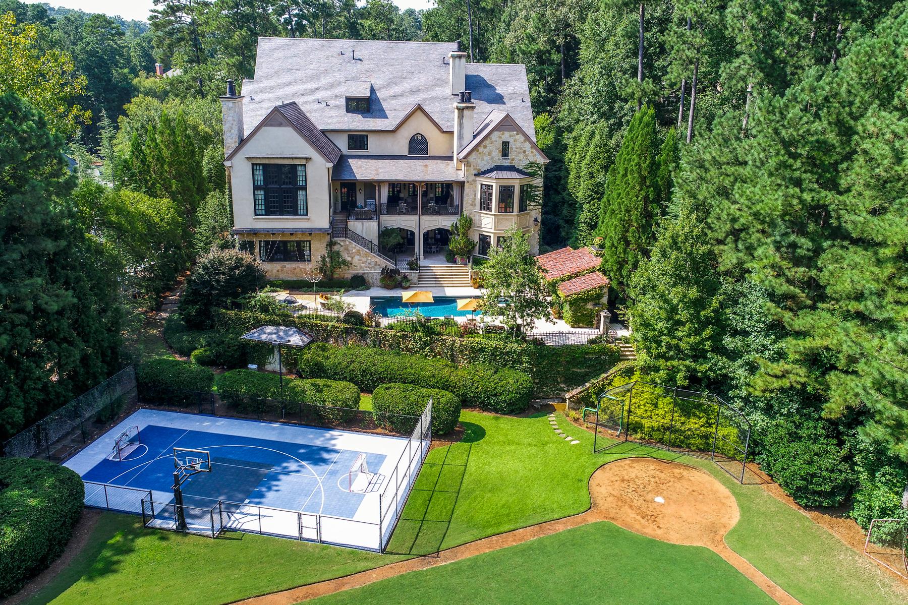 Частный односемейный дом для того Продажа на Extraordinary Field Of Dreams Legacy Family Estate 910 Hurleston Lane Johns Creek, Джорджия 30022 Соединенные Штаты
