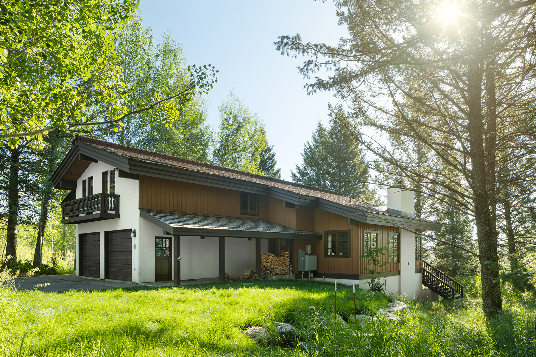 Single Family Homes のために 売買 アット High Mountain Retreat in Teton Village 6660 N Ellen Creek Rd., Teton Village, ワイオミング 83025 アメリカ