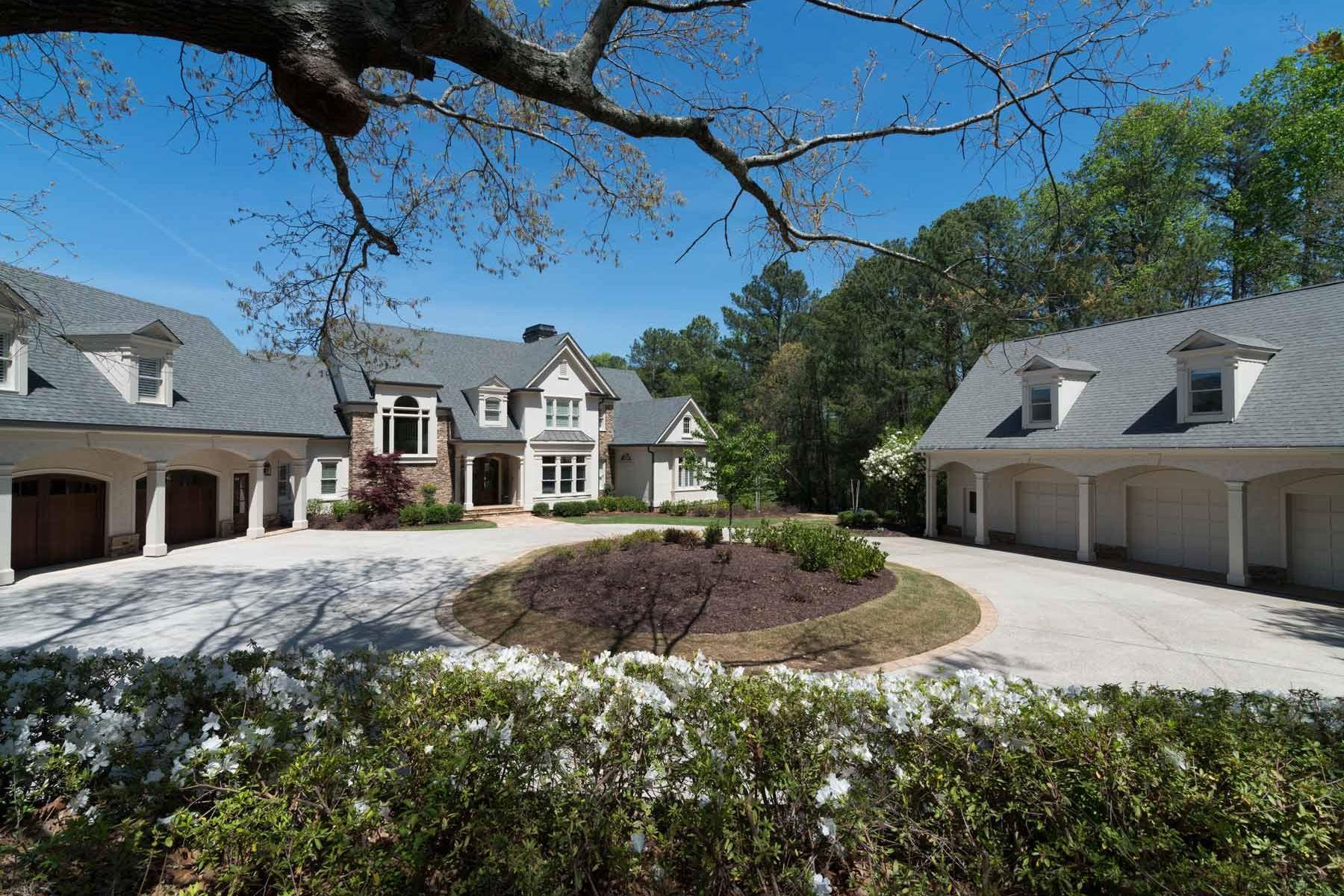 Ферма / ранчо / плантация для того Продажа на Elegant Gated Equestrian Estate 13165 Birmingham Highway Milton, Джорджия, 30004 Соединенные Штаты