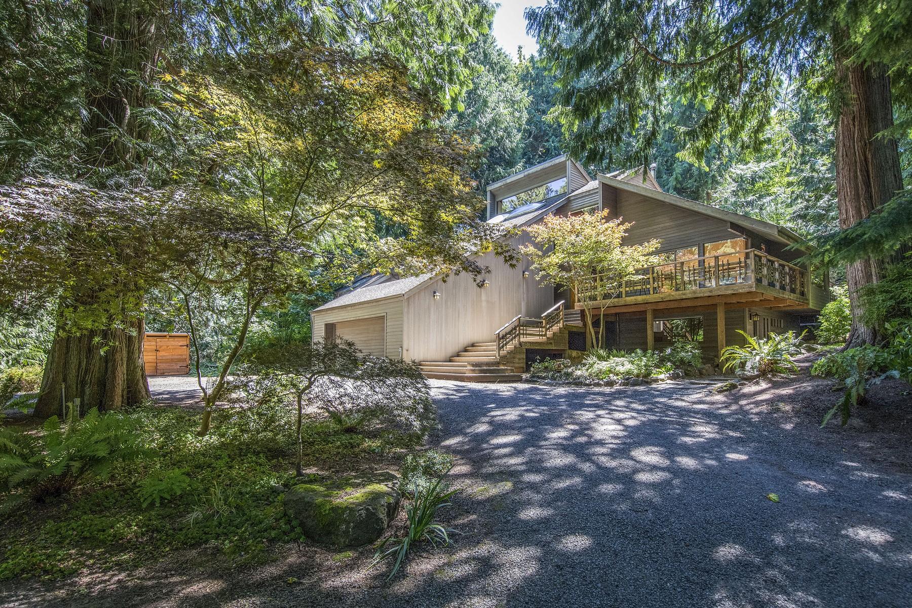 واحد منزل الأسرة للـ Sale في Majestic NW Contemporary 16150 Agate Pass Rd NE Bainbridge Island, Washington, 98110 United States