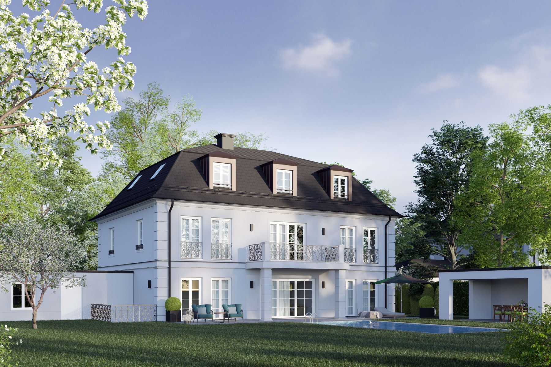 Single Family Homes for Sale at CLASSIC LIVING IN THE PARK Grunwald, Bavaria Germany