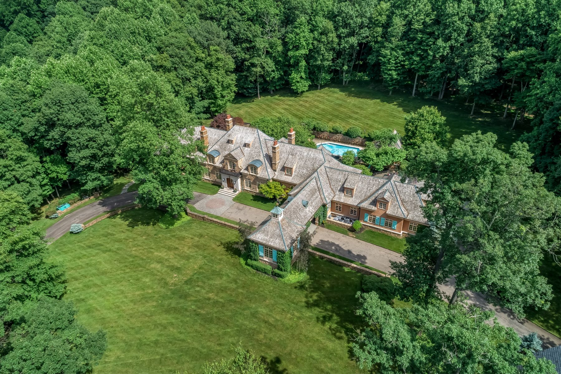 Single Family Homes for Active at French Country Masterpiece 8 Chapel Lane Mendham Borough, New Jersey 07945 United States