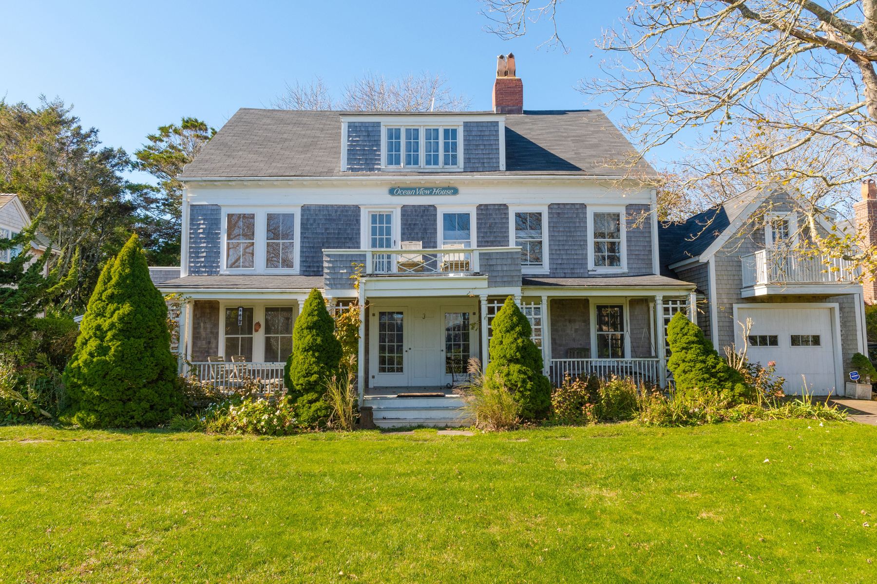 Single Family Homes for Sale at The Ocean View House - Iconic and Fabulous 3 Grand Avenue Siasconset, Massachusetts 02564 United States