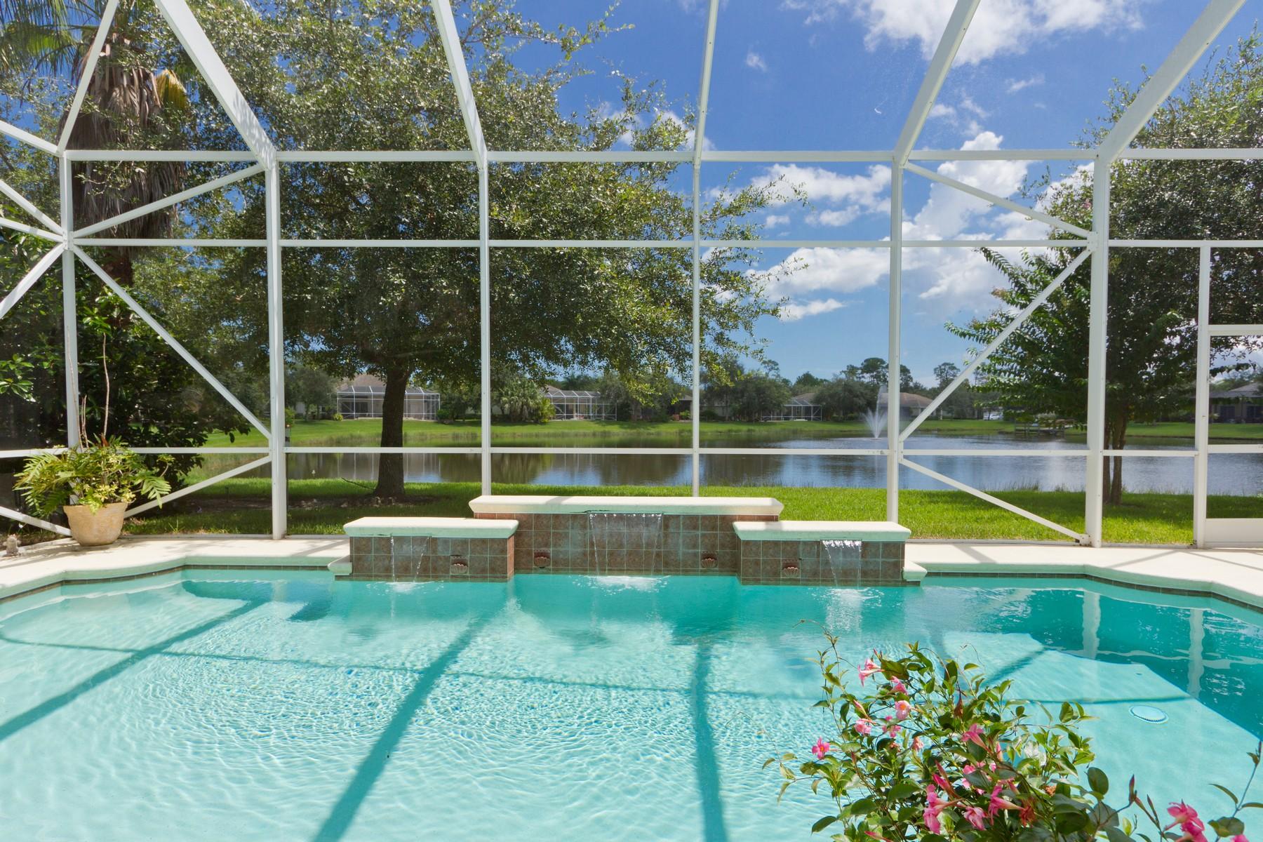 Single Family Homes for Sale at Grand Lakeside Pool Home 4156 Abington Woods Circle Vero Beach, Florida 32967 United States
