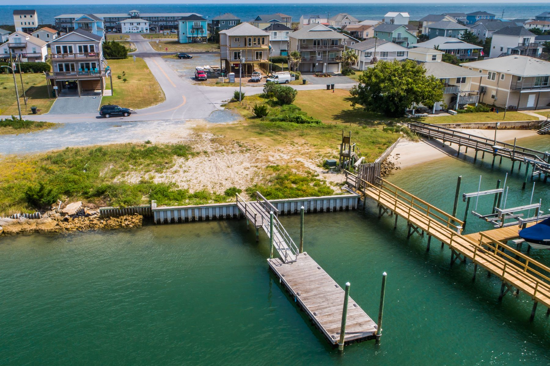 Land for Sale at Spacious Waterfront Land with Private Dock 1522 Carolina Boulevard Topsail Beach, North Carolina 28445 United States
