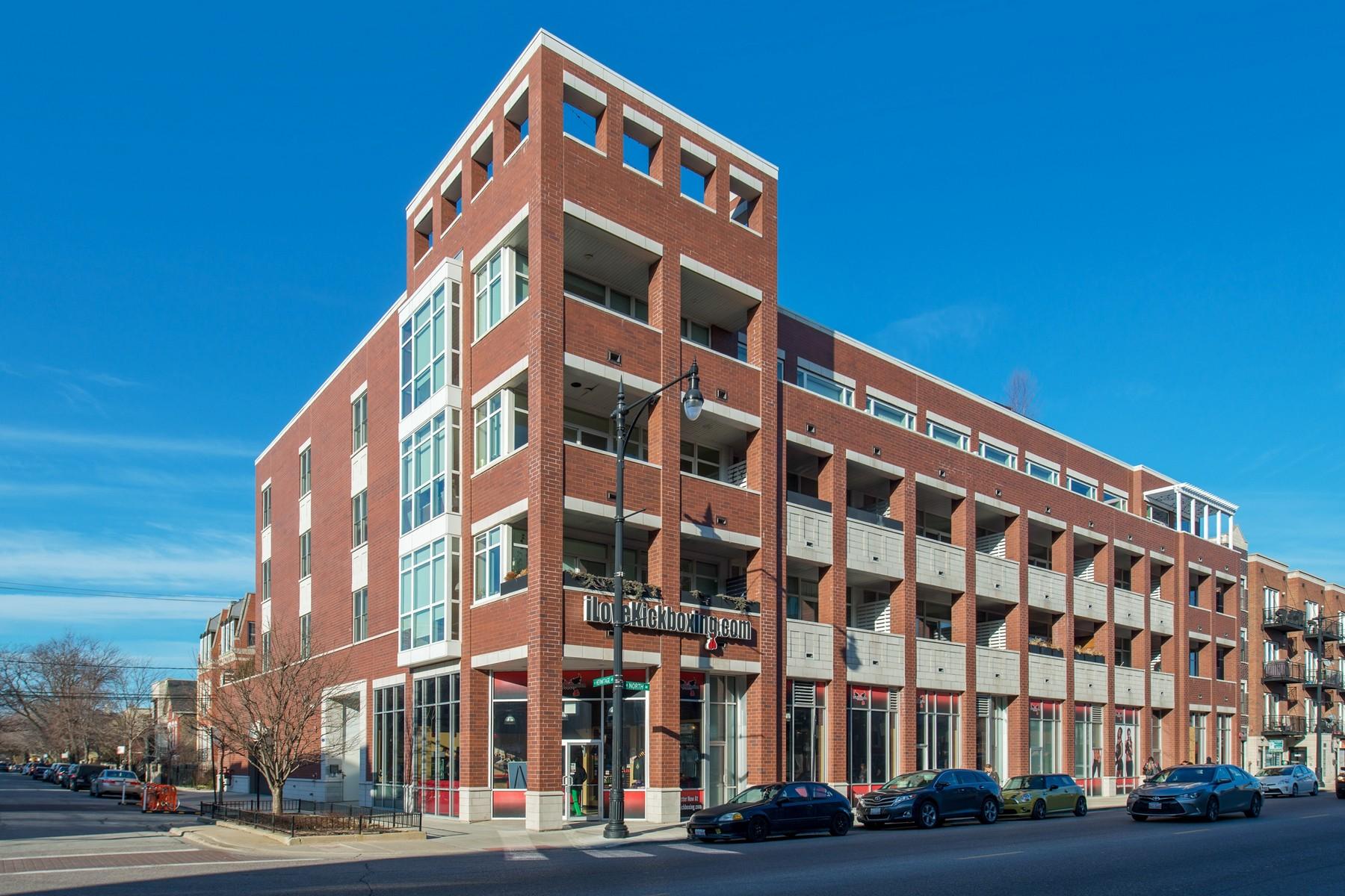 Condominium for Sale at Stunning Almost-New Construction 1611 N Hermitage Avenue Unit 206, Logan Square, Chicago, Illinois, 60622 United States