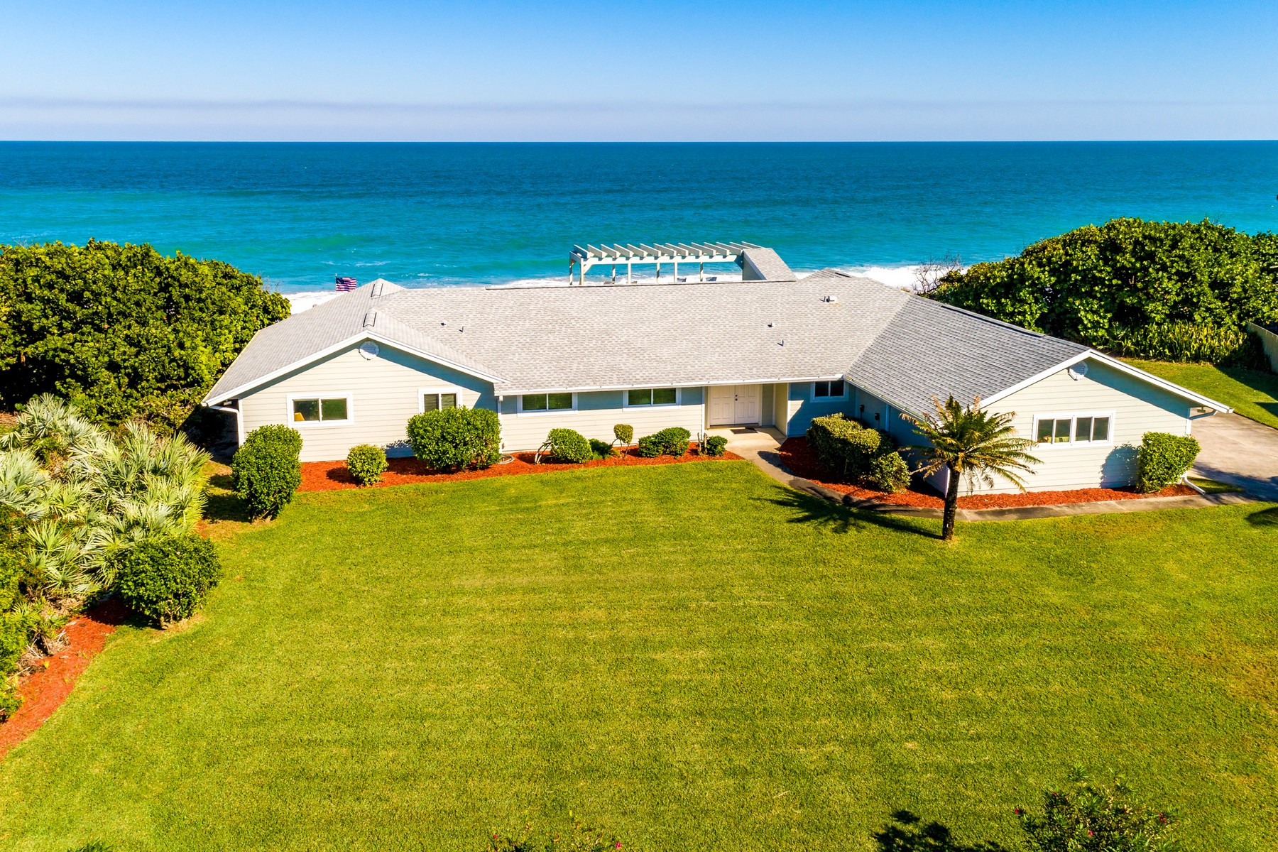 Single Family Homes for Sale at Incredible Oceanfront Property Featuring Over 135' of Ocean Frontage 3785 Highway A1A Melbourne Beach, Florida 32951 United States
