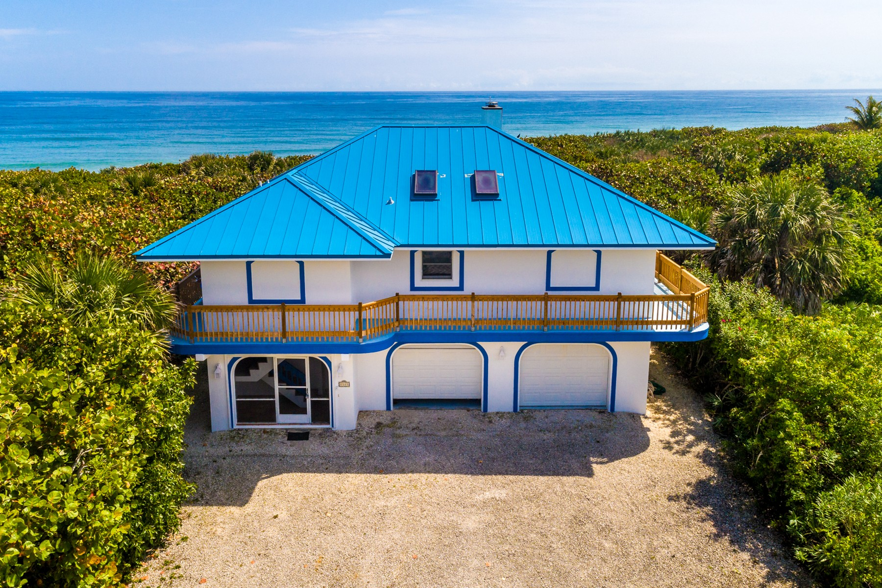 Single Family Home for Sale at Tropical Oceanfront Paradise in Melbourne Beach 8585 S Highway A1A Melbourne Beach, Florida 32951 United States