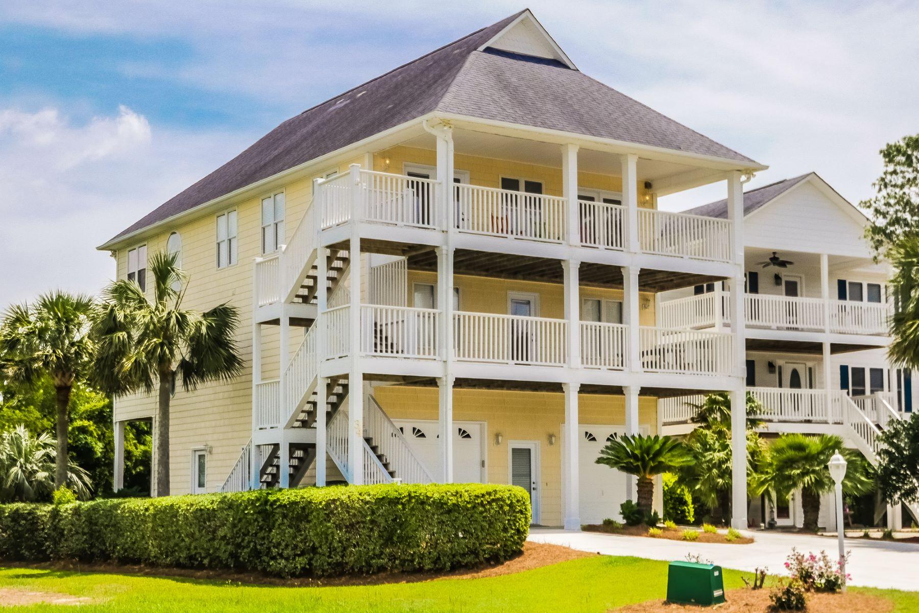Casa para uma família para Venda às Impeccably Maintained Furnished Island Home 34 Sandy Lane Surf City, Carolina Do Norte, 28445 Estados Unidos