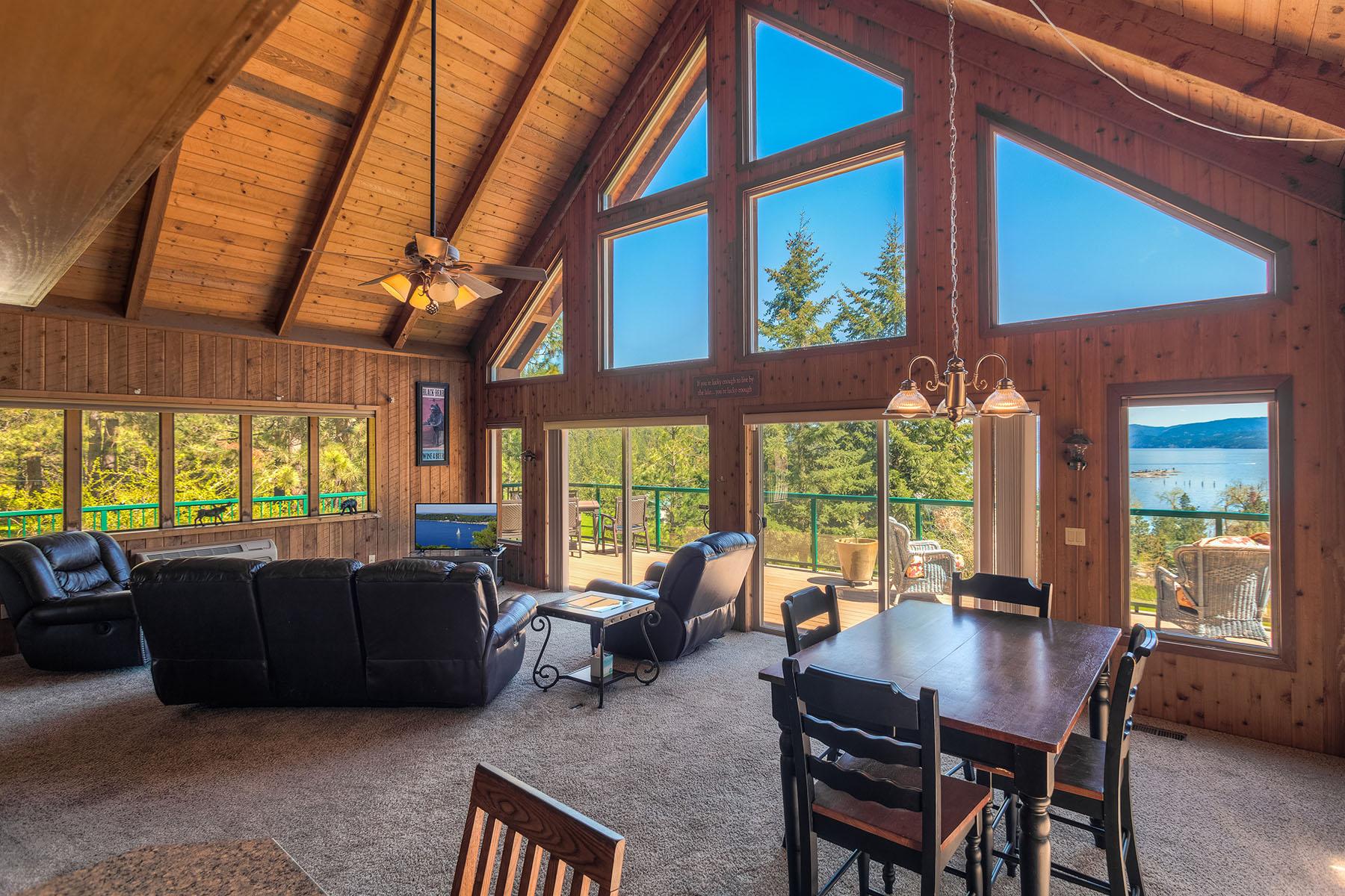 단독 가정 주택 용 매매 에 Stunning Lake views on 5 acres 2740 W Summer Mill Ln, Coeur D Alene, 아이다호, 83814 미국