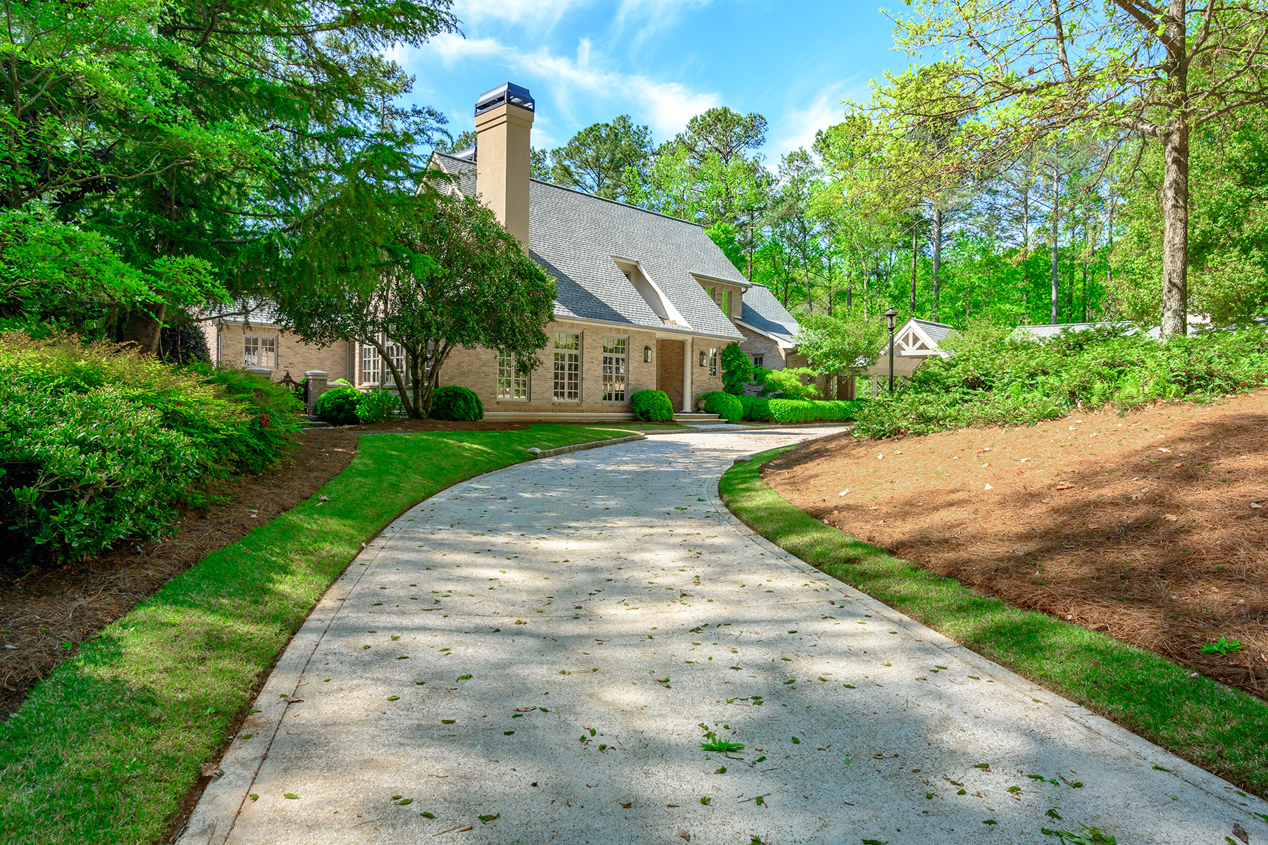 Single Family Homes for Sale at French-Inspired Custom Home in Peaceful Setting 2830 Tanner Lake Trail Marietta, Georgia 30064 United States