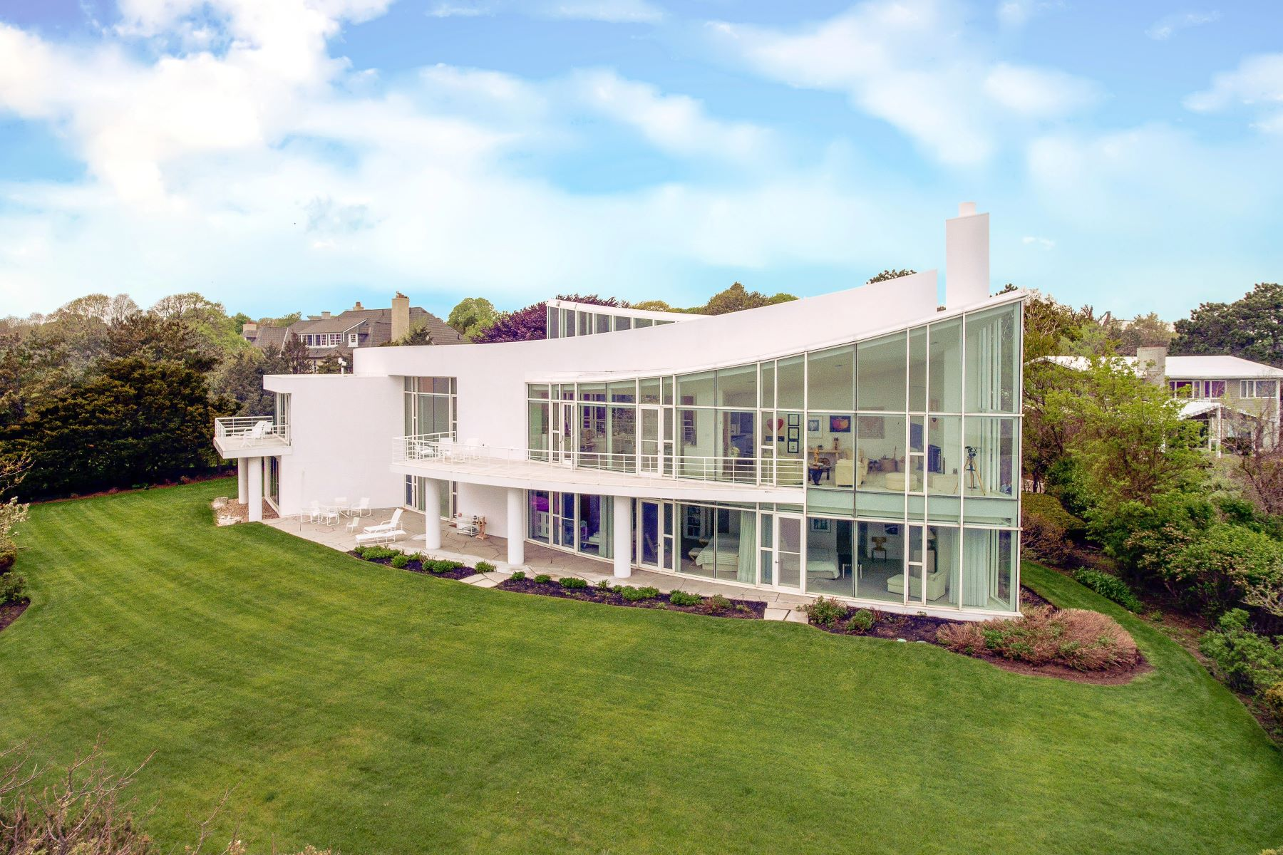 Single Family Homes for Sale at Extraordinary Ocean Front Contemporary Home 45 Little's Point Swampscott, Massachusetts 01907 United States