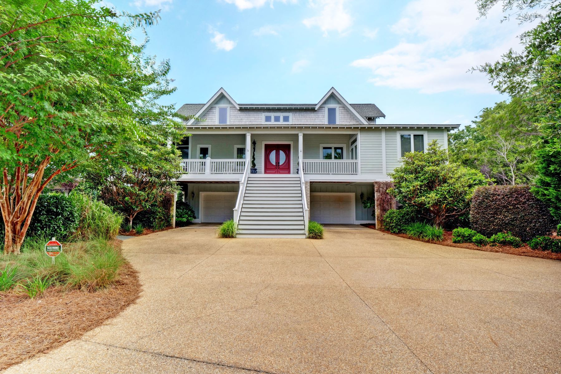 Single Family Home for Active at Spectacular Waterfront Home with Privacy 6249 Pebble Shore Lane Southport, North Carolina 28461 United States