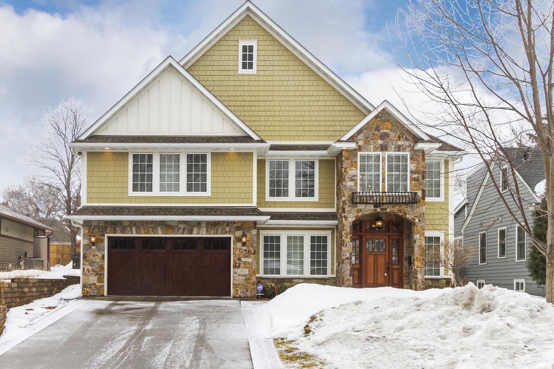 Частный односемейный дом для того Продажа на 5013 Bedford Avenue Edina, Миннесота, 55436 Соединенные Штаты