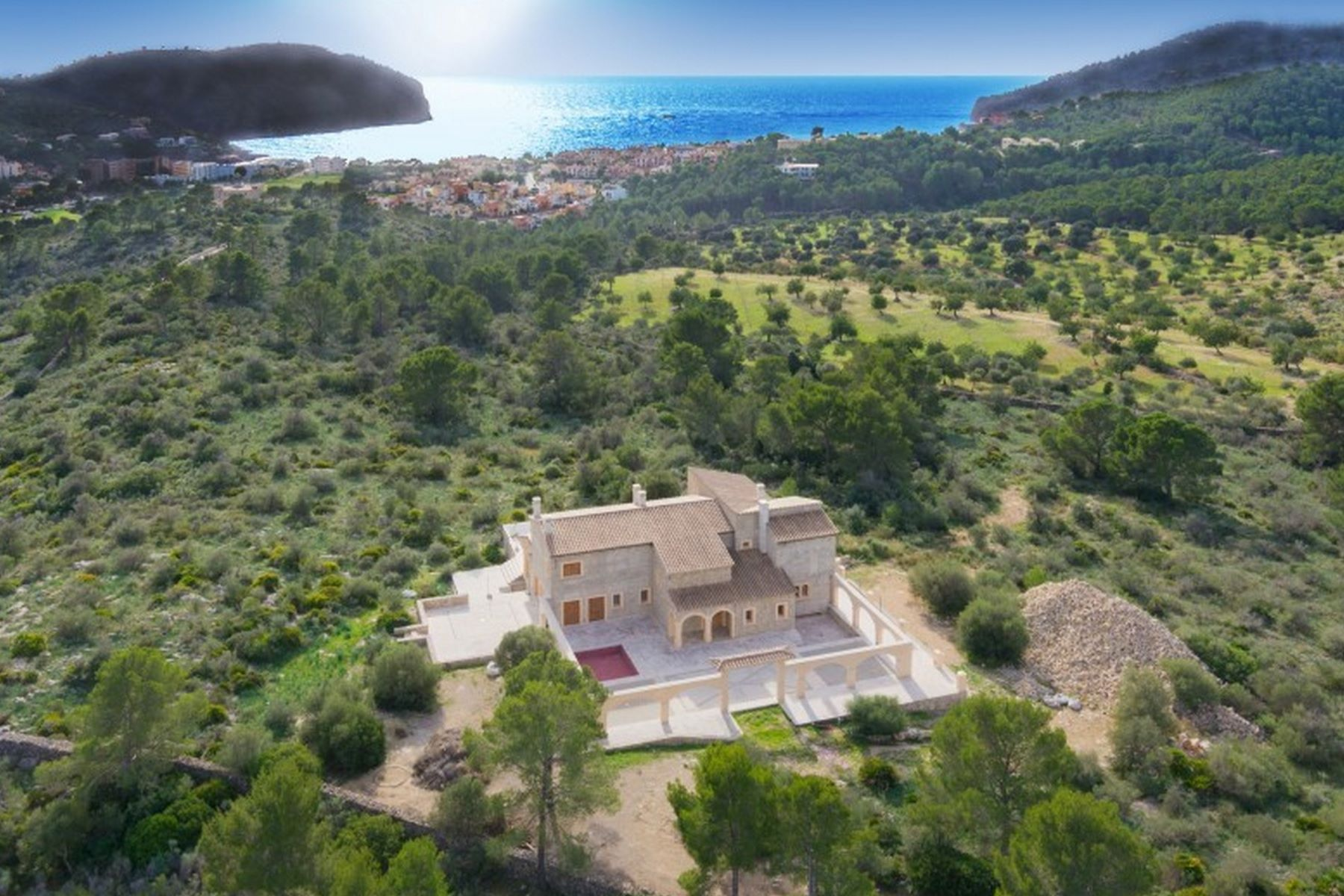 Single Family Home for Sale at Majestic Finca in Camp de Mar with sea views Other Balearic Islands, Balearic Islands, 07160 Spain