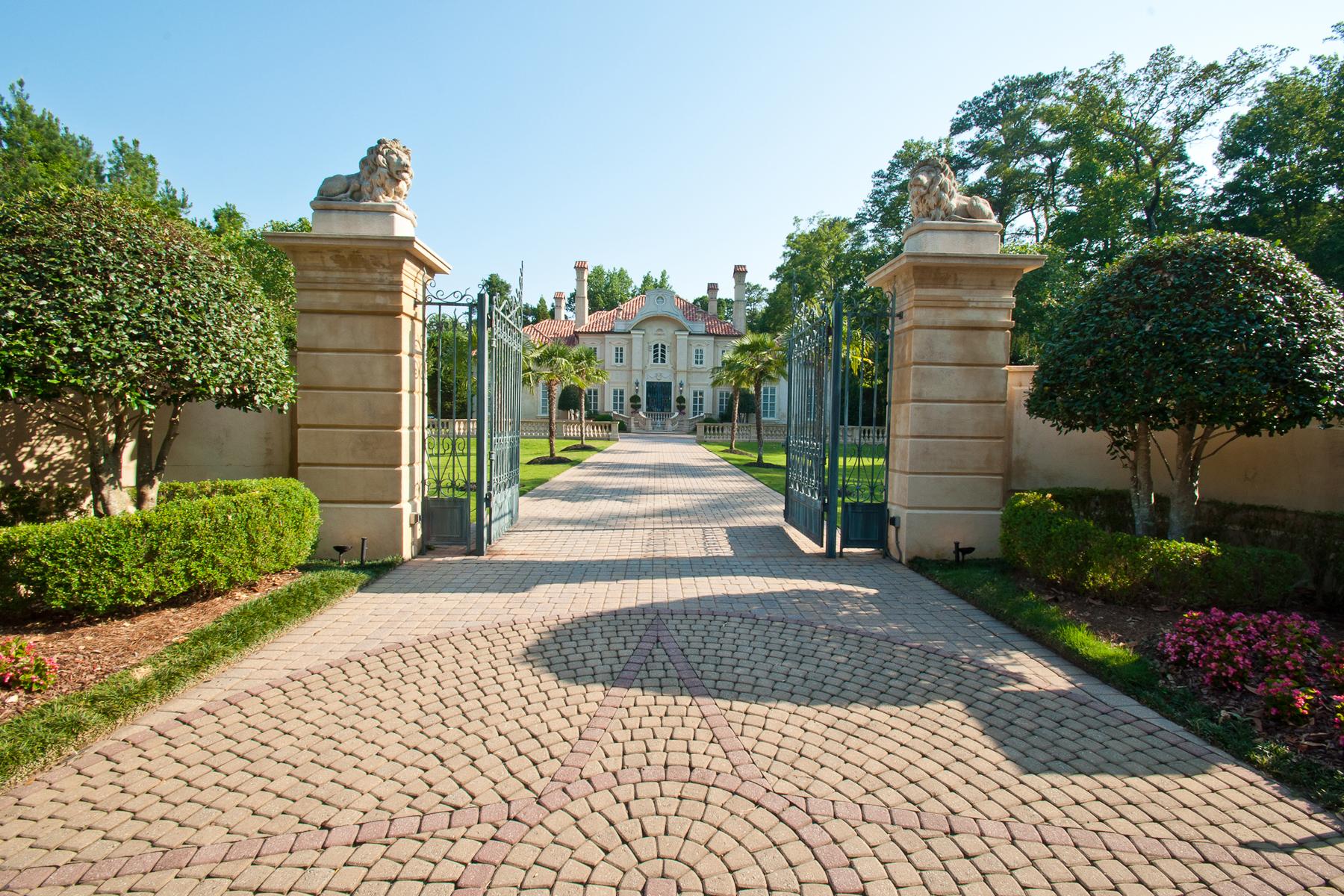 Casa para uma família para Venda às Magnificent Mediterranean Estate 4670 Northside Drive North Buckhead, Atlanta, Geórgia, 30327 Estados Unidos
