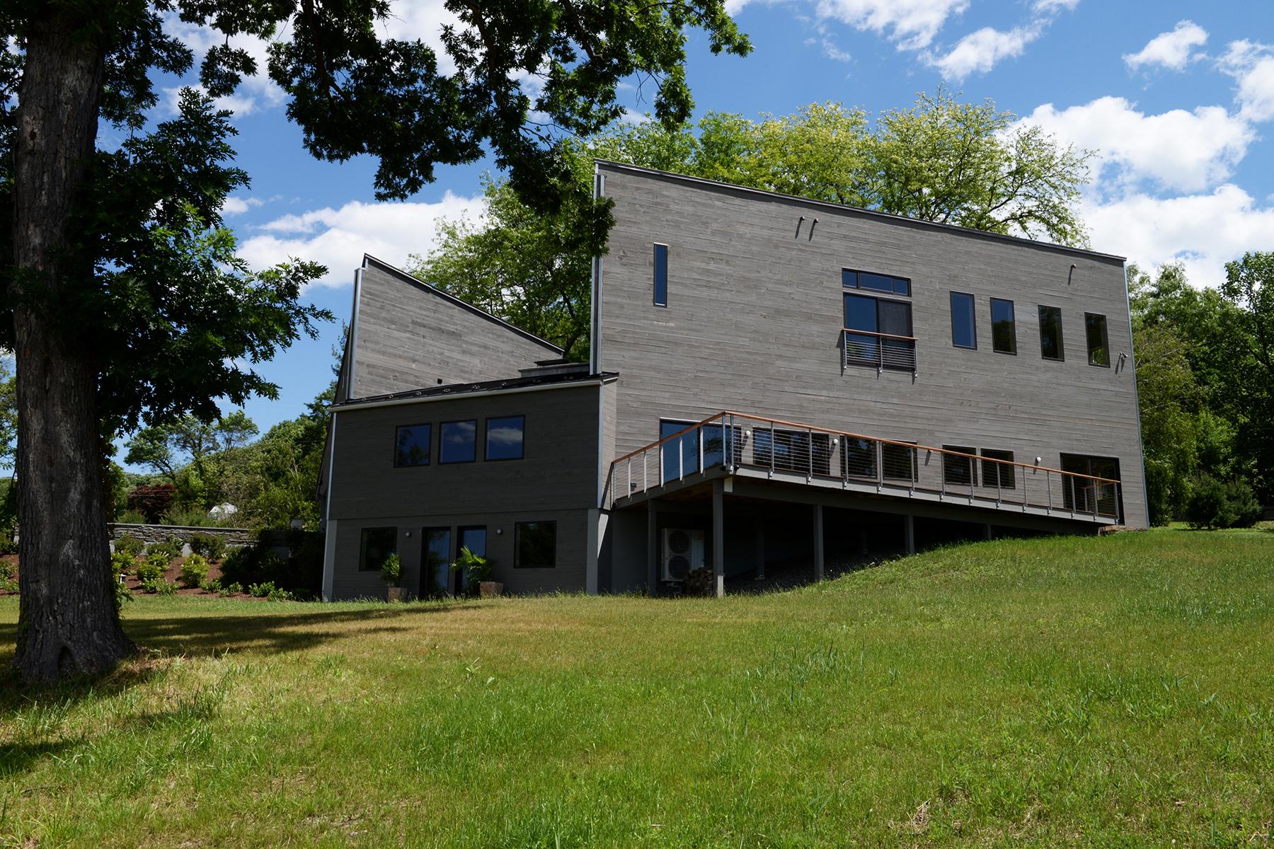 Maison unifamiliale pour l Vente à Modernist Masterpiece On The Hudson 170 Mount Merino Hudson, New York 12534 États-Unis