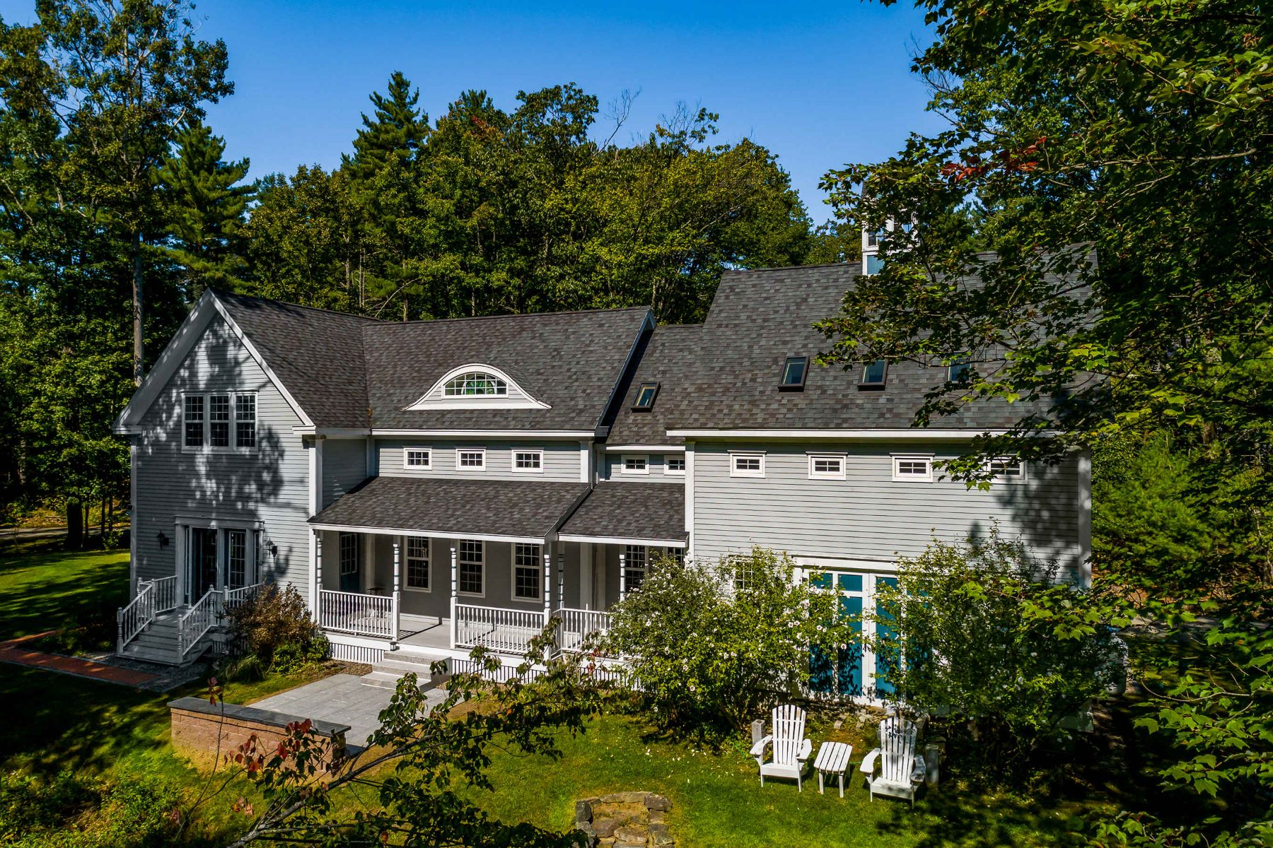 Single Family Homes for Sale at Gorgeous Cape on 2 Picturesque Acres in Ogunquit 62 Jothams Lane Ogunquit, Maine 03907 United States