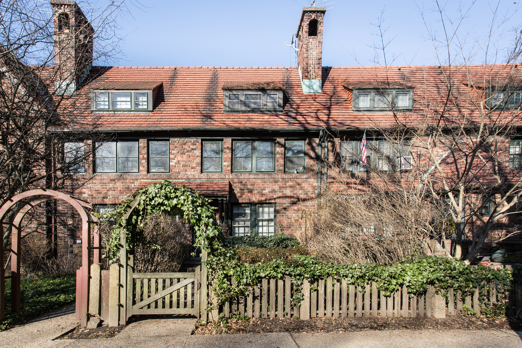 """Single Family Homes for Active at """"FOREST HILLS GARDENS ATTERBURY TAPESTRY BRICK TOWNHOME"""" 199 Puritan Avenue, Forest Hills Gardens, Forest Hills, New York 11375 United States"""