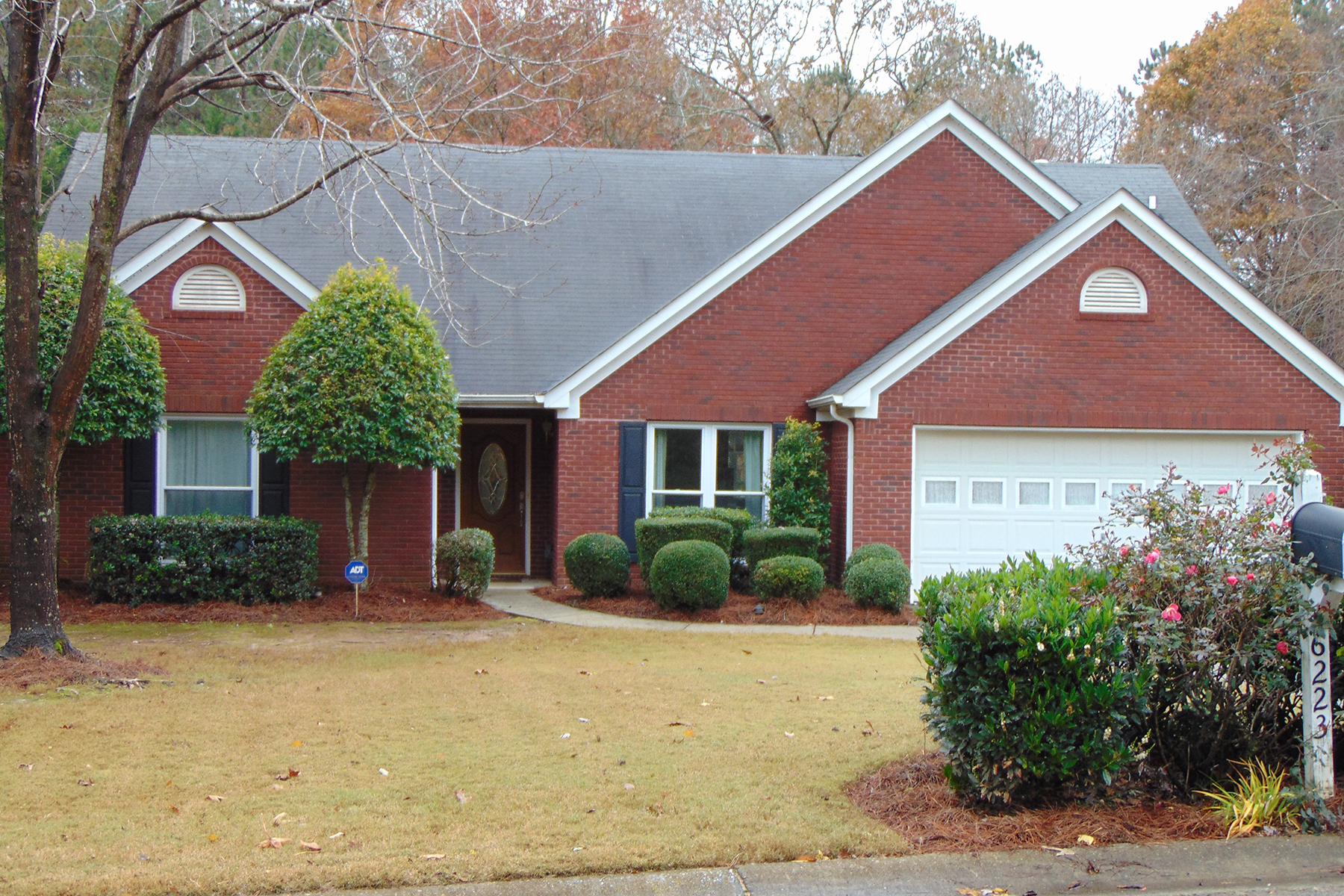 Single Family Home for Sale at Brick Ranch On Large Fenced Flat Lot 6223 Rock Port Dr Flowery Branch, Georgia 30542 United States