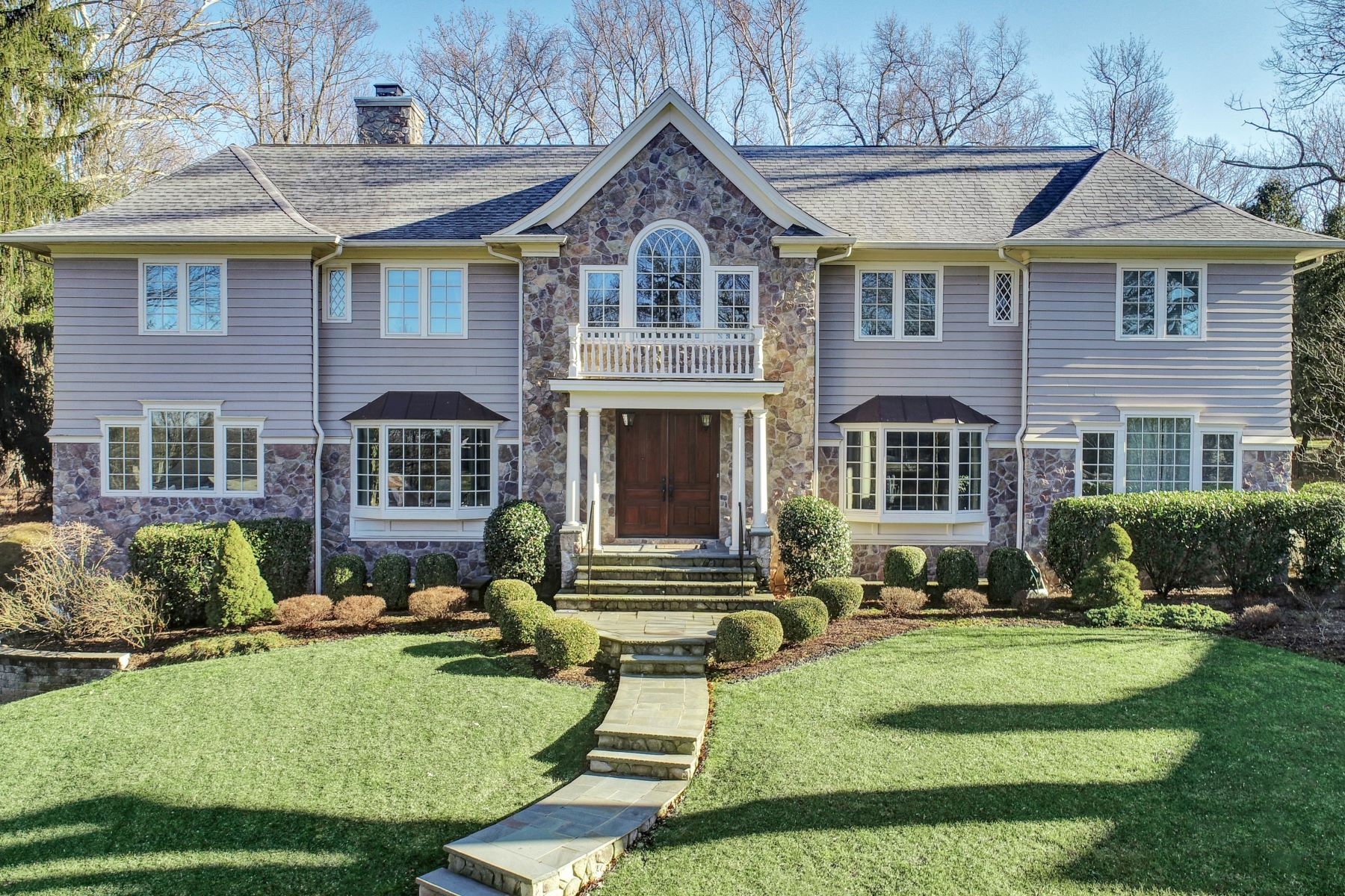 Single Family Homes for Sale at Fresh and Modern Colonial 15 Lee Terrace Short Hills, New Jersey 07078 United States