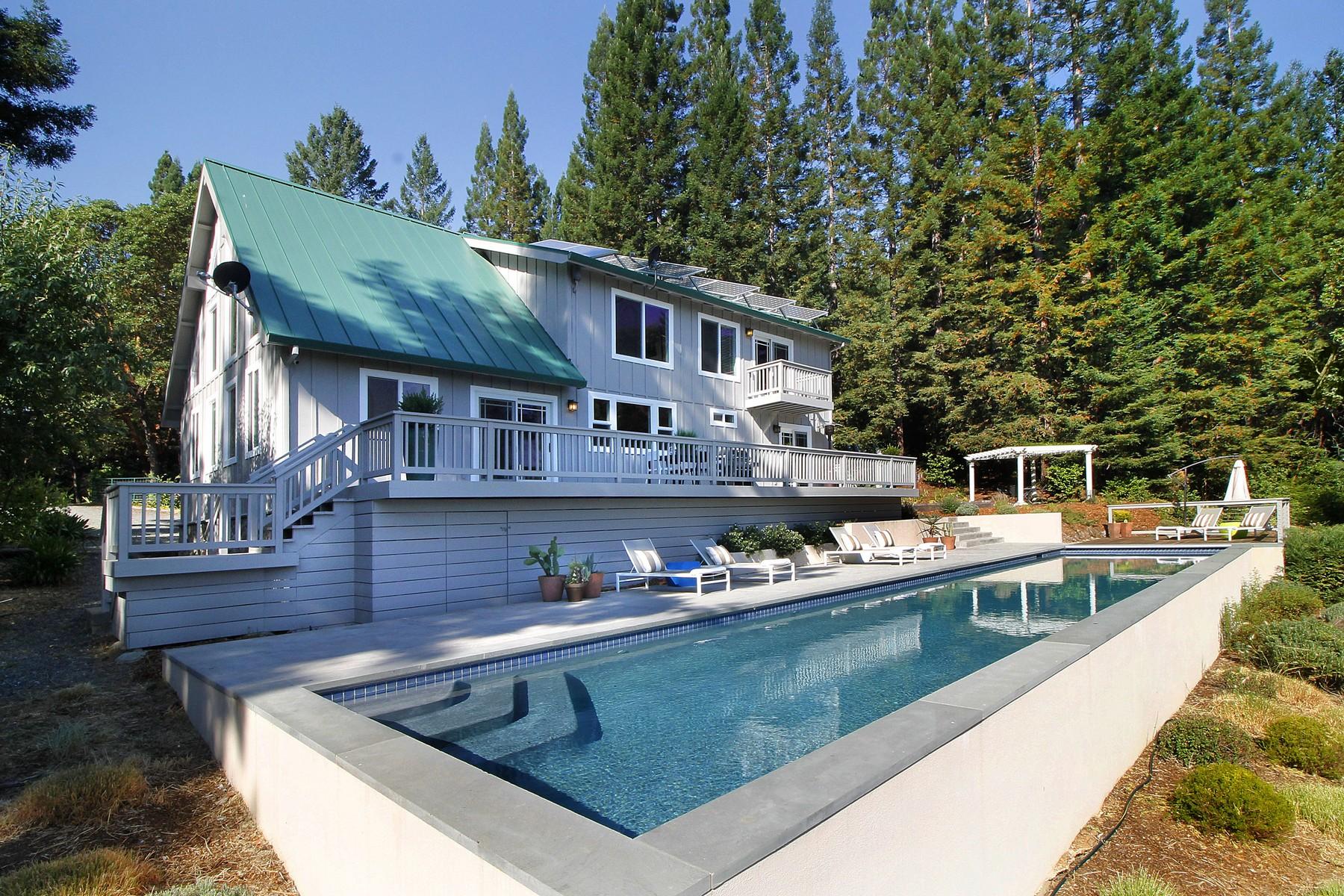 Vivienda unifamiliar por un Venta en Big Ridge Estate 2200 Big Ridge Road Healdsburg, California, 95448 Estados Unidos