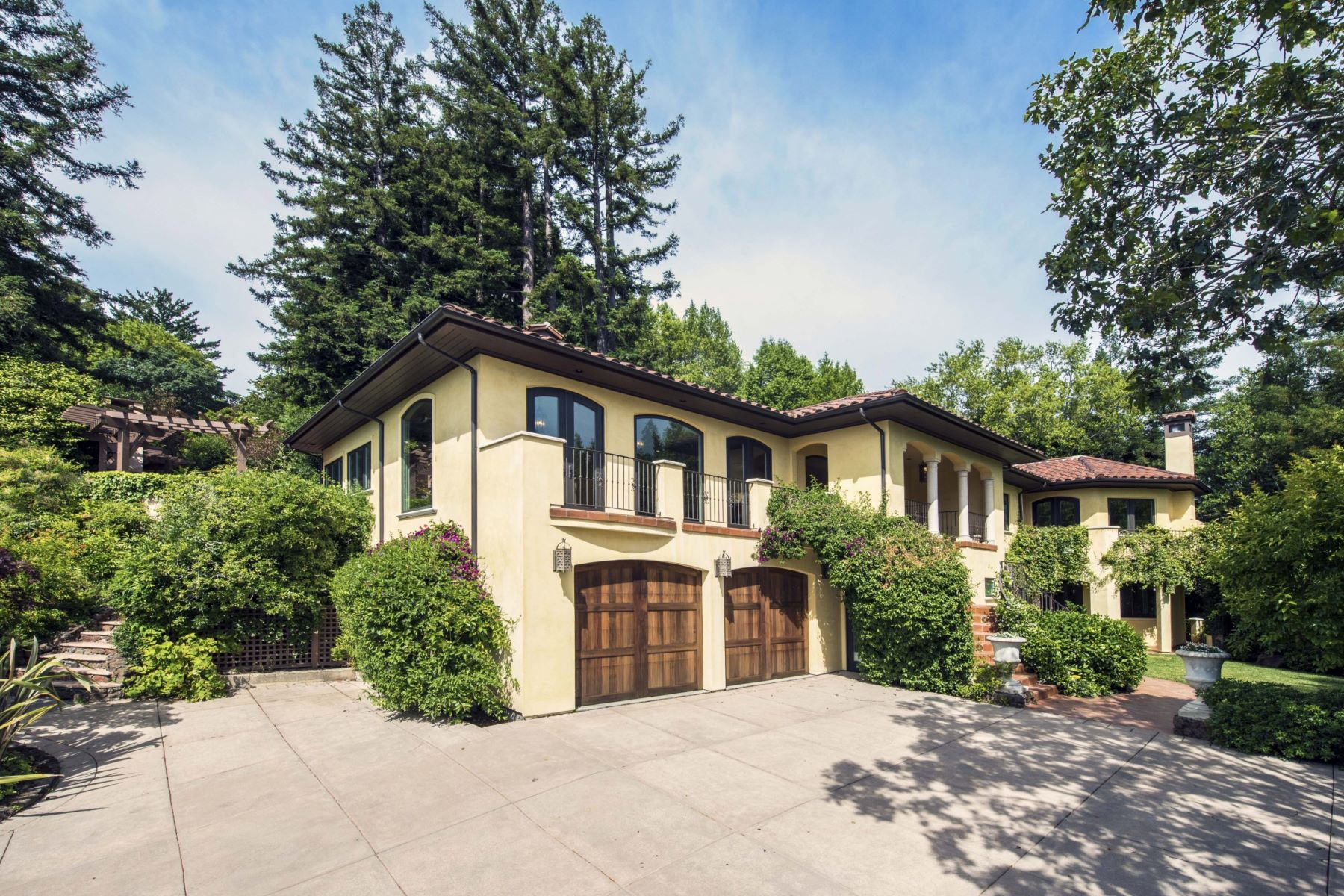 Single Family Home for Sale at Impeccable Kent Woodlands Mediterranean 14 Madrone Way Kentfield, California 94904 United States