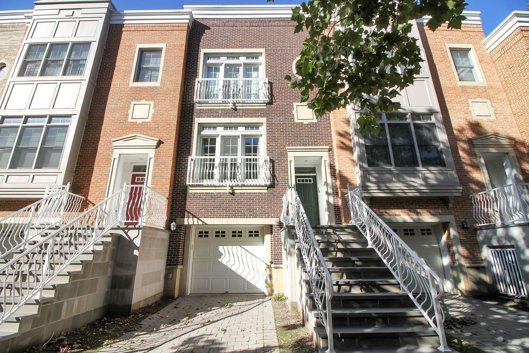 Townhouse for Rent at Prestigious triplex brick townhome on tree lined street in Port Liberte 10 Constitution Way, Jersey City, New Jersey 07305 United States