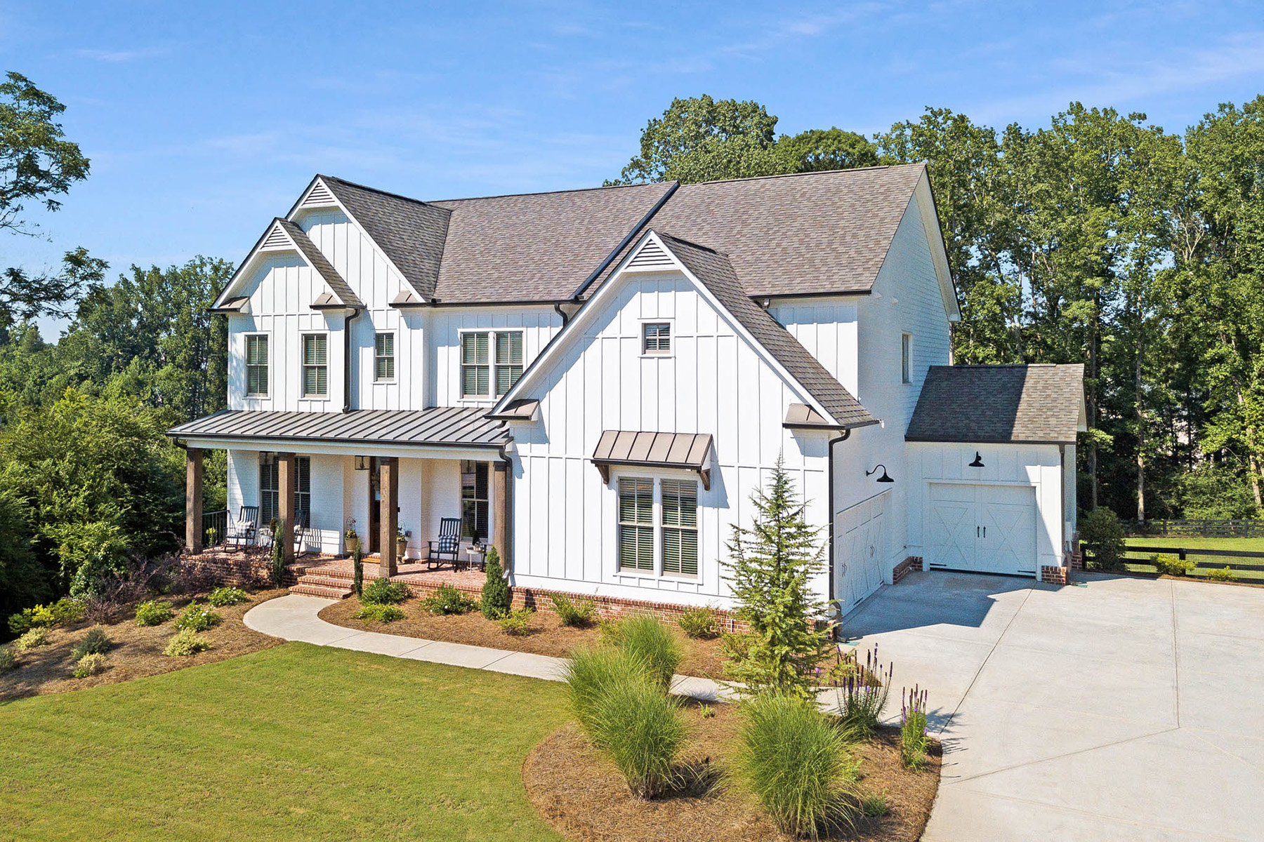 Single Family Homes for Sale at Farmhouse Living With All The Conveniences 5515 Franklin Goldmine Road Cumming, Georgia 30028 United States