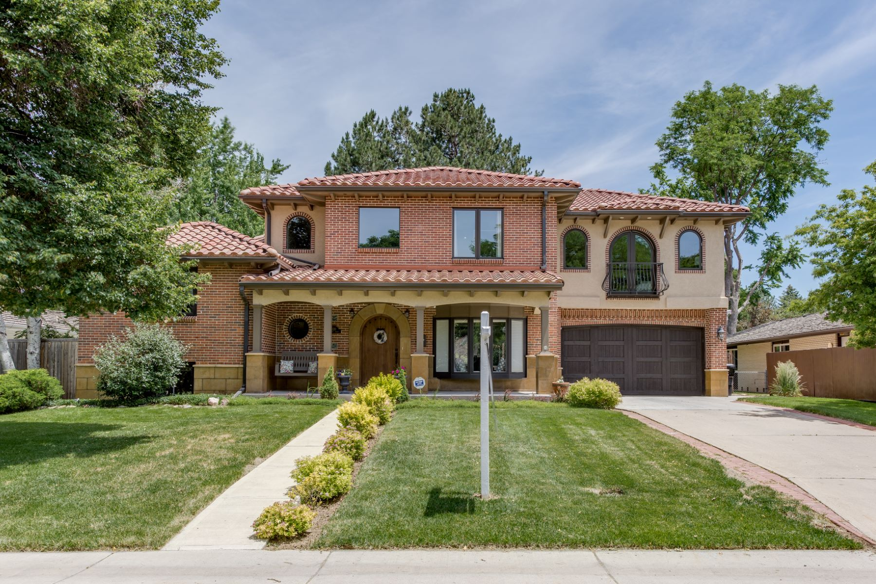 Single Family Home for Sale at Crestmoor Mediterranean Style Home 320 Leyden Street Hilltop, Denver, Colorado, 80220 United States