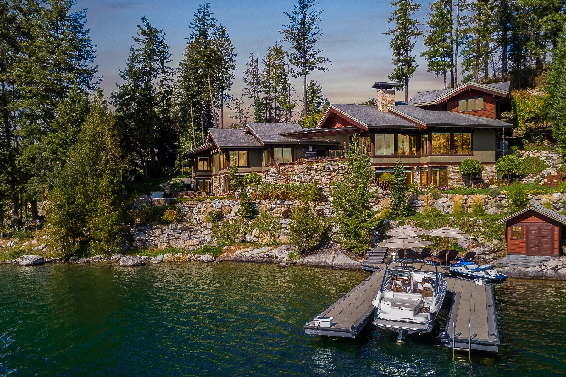 Single Family Homes for Sale at Dover Point Waterfront Estate 203 Shannon Lane Dover, Idaho 83825 United States