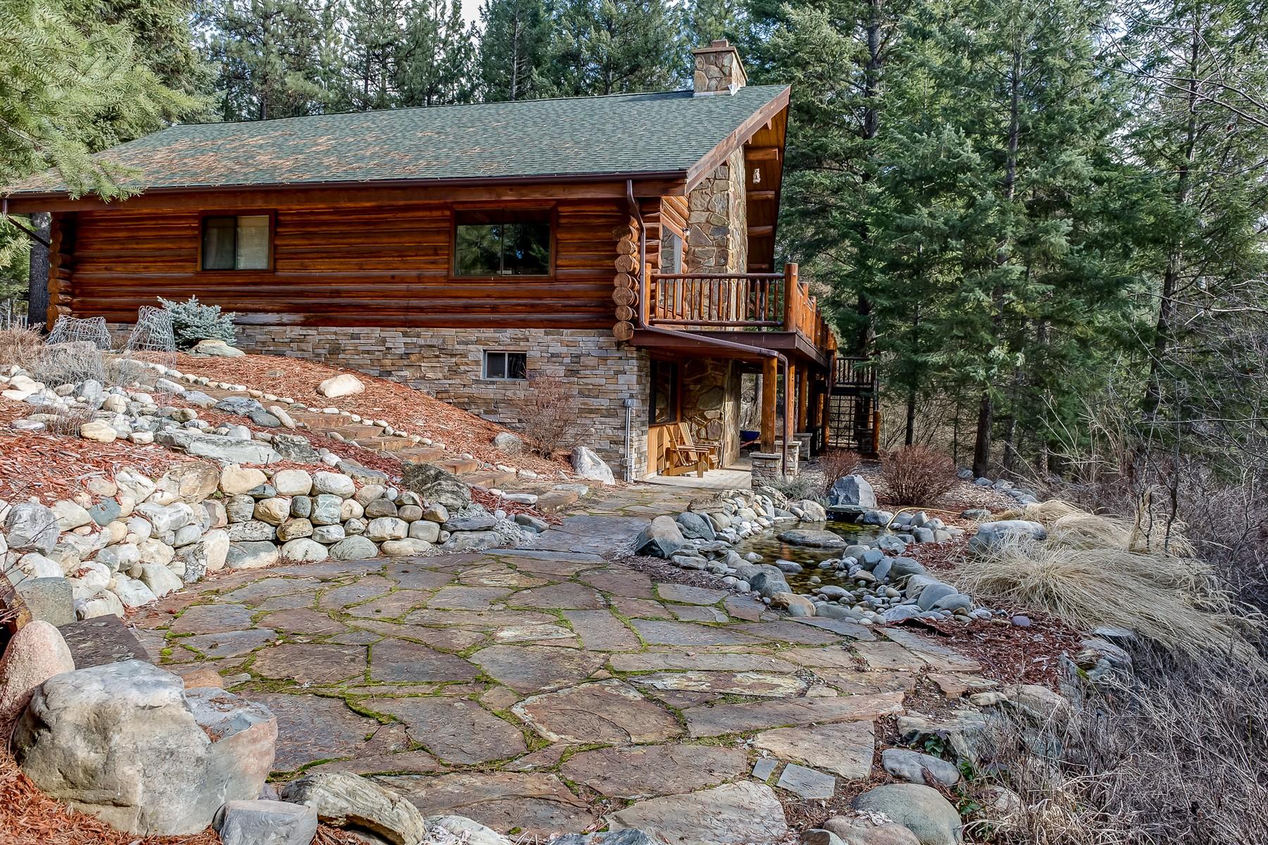Single Family Homes por un Venta en Custom Renovated Log Home -- LIbby 54 Shalom Kerry Road Libby, Montana 59923 Estados Unidos