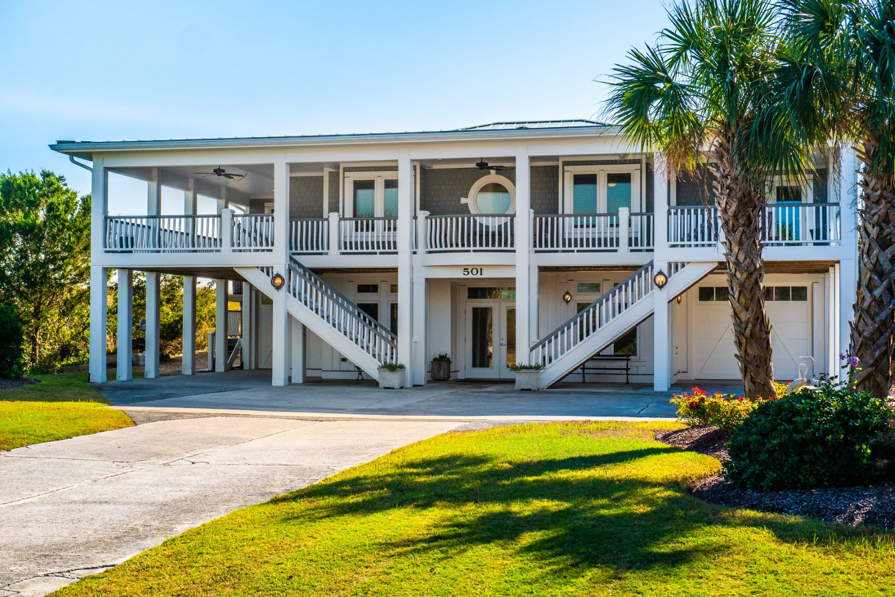 Single Family Homes for Sale at Luxury Oceanfront on South Anderson 501 S Anderson Blvd Topsail Beach, North Carolina 28445 United States