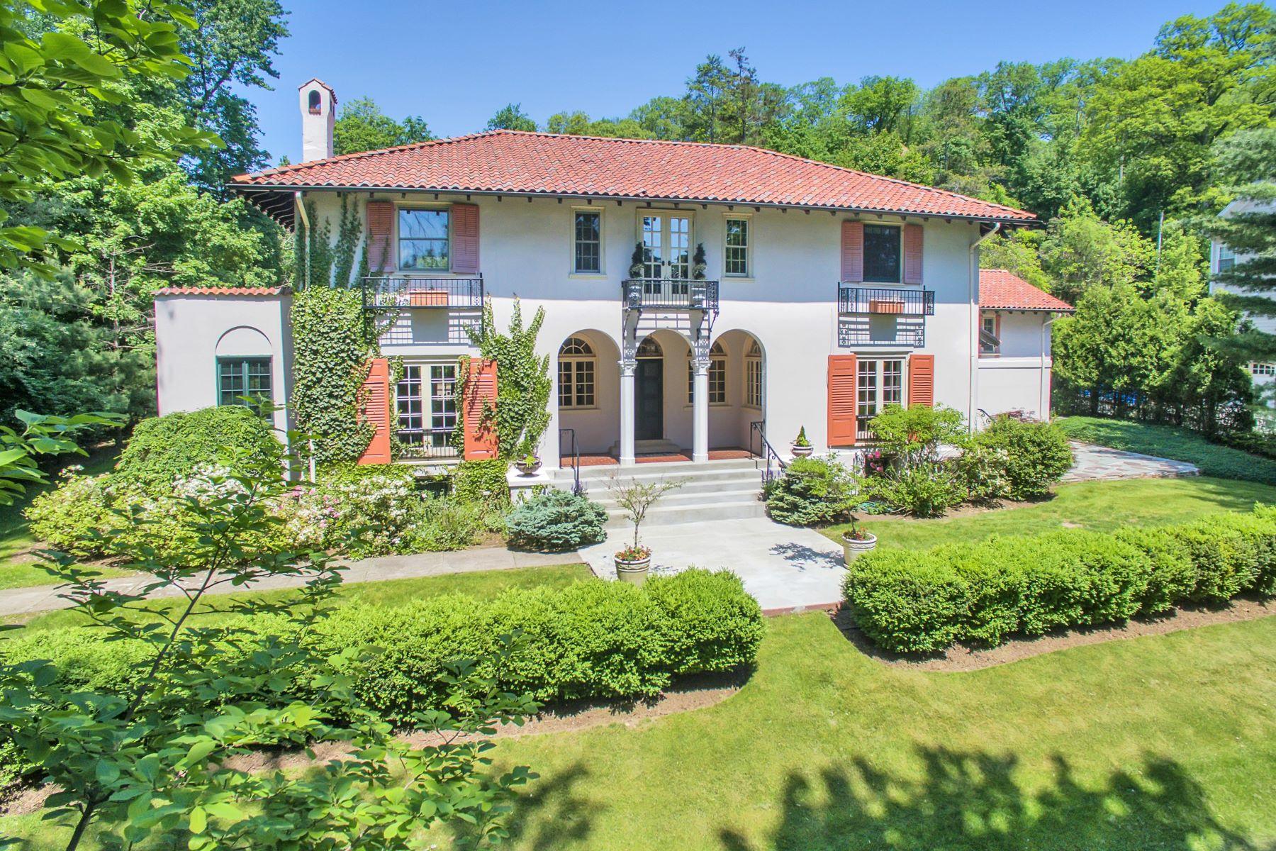 一戸建て のために 売買 アット Sophisticated Mediterranean Inspired Residence 46 Highland Avenue Upper Montclair, ニュージャージー, 07042 アメリカ合衆国