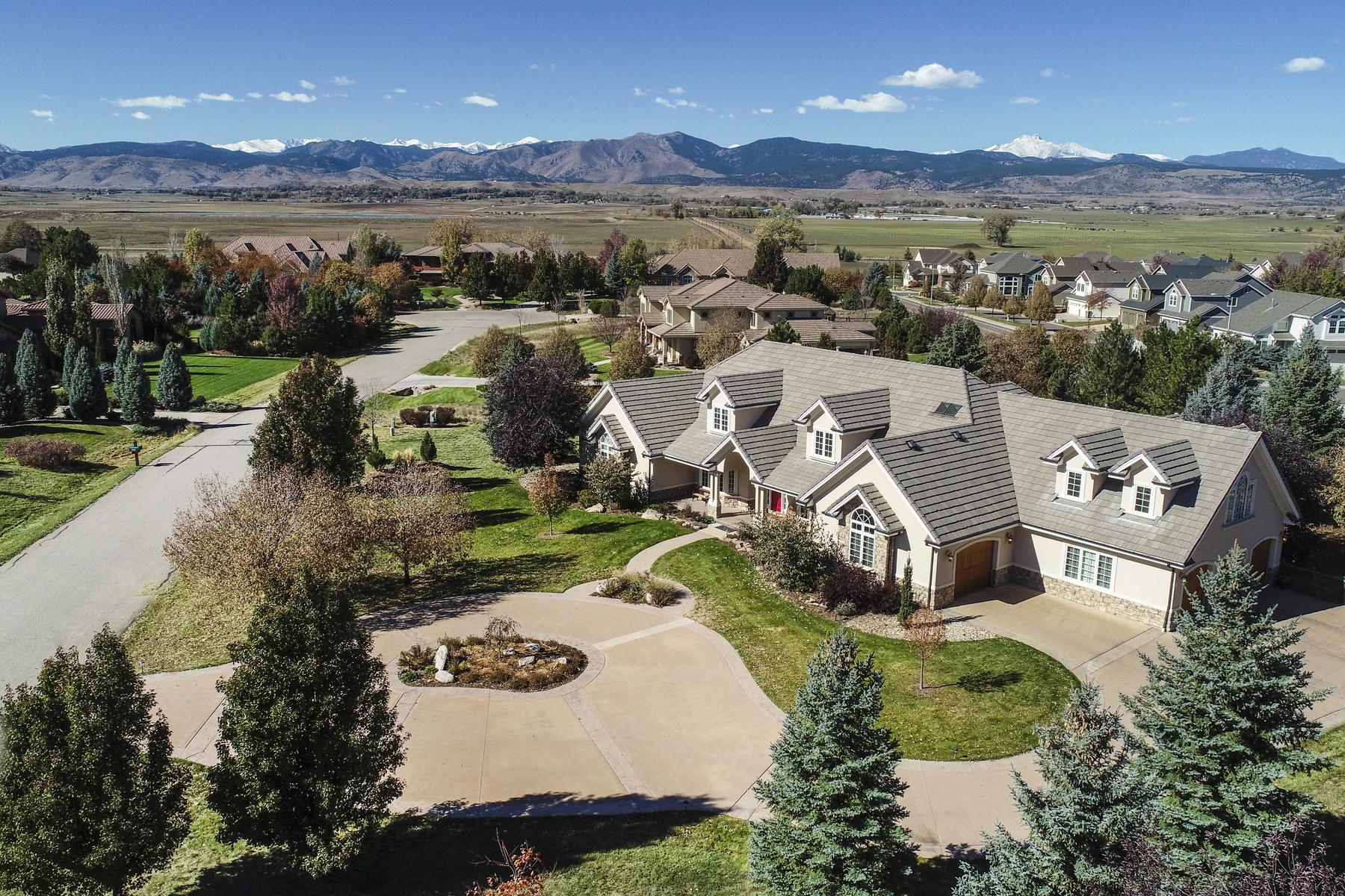 Single Family Homes 為 出售 在 Exceptional Custom Built Home 7677 Portico Pl, Longmont, 科羅拉多州 80503 美國