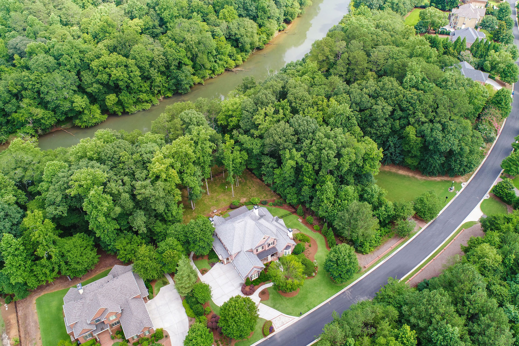 Single Family Home for Sale at Spectacular Custom-built Executive Estate with Chattahoochee River Frontage 795 Vista Bluff Drive Johns Creek, Georgia 30097 United States